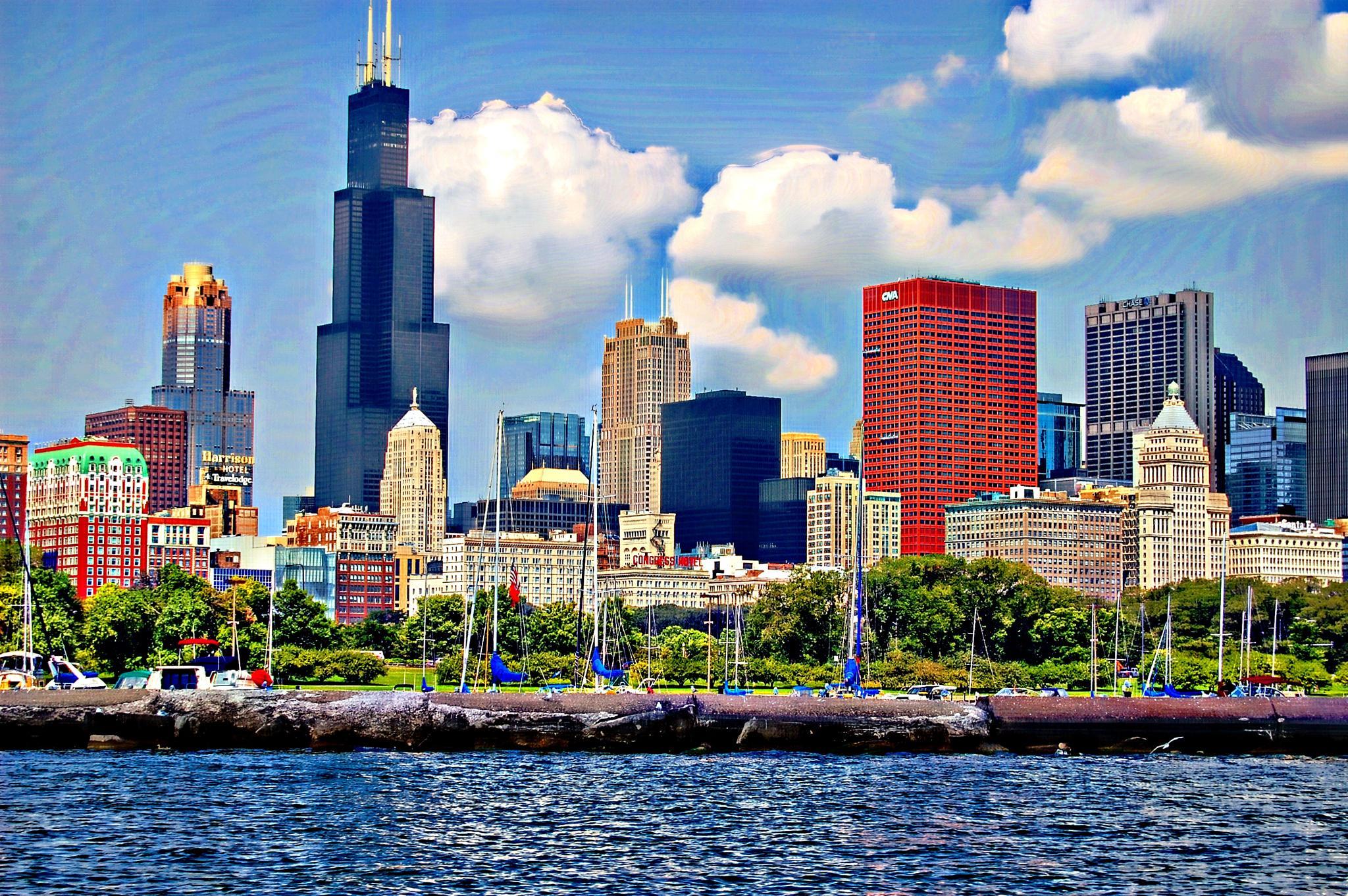chicago skyline by Jon Radtke
