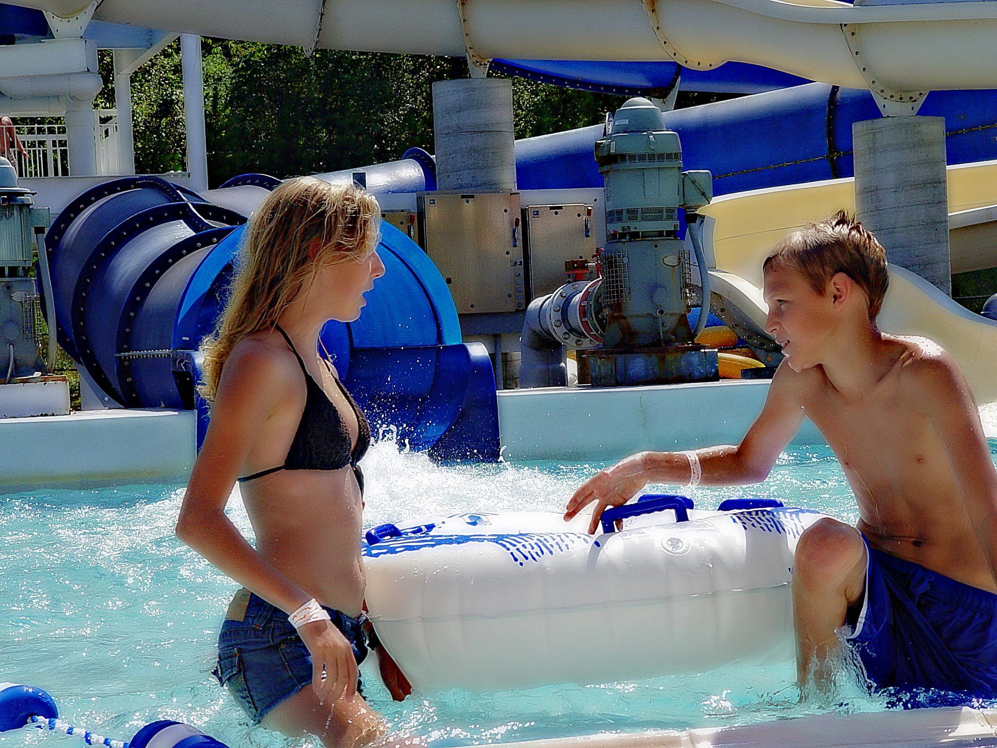 Photo in People #couple #jradtke #girl #boy #pool #water #water park #tube #swim #swimsuit #slide #slides #summer