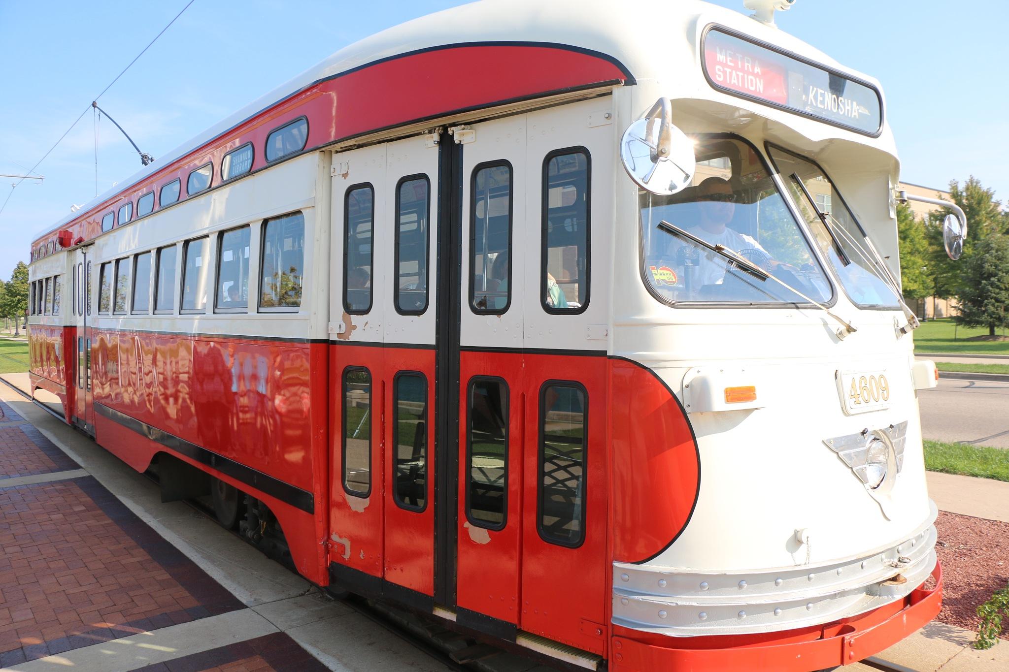 kenosha trolley car street car by Jon Radtke
