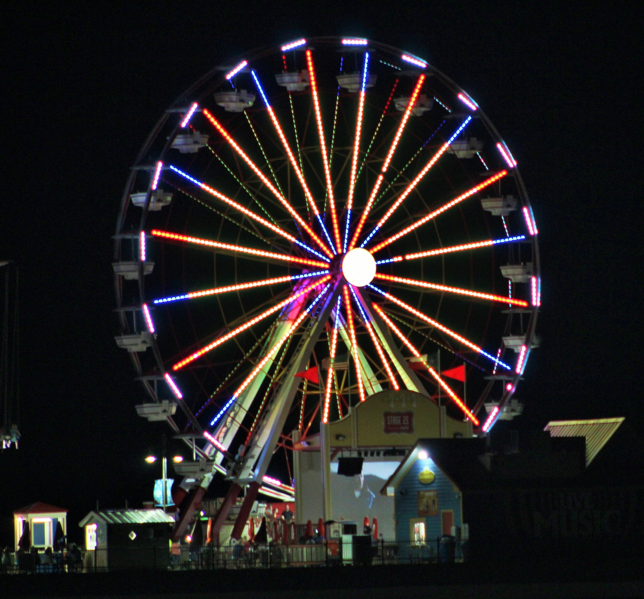 Ferris wheel on the pier by MORCINDERS
