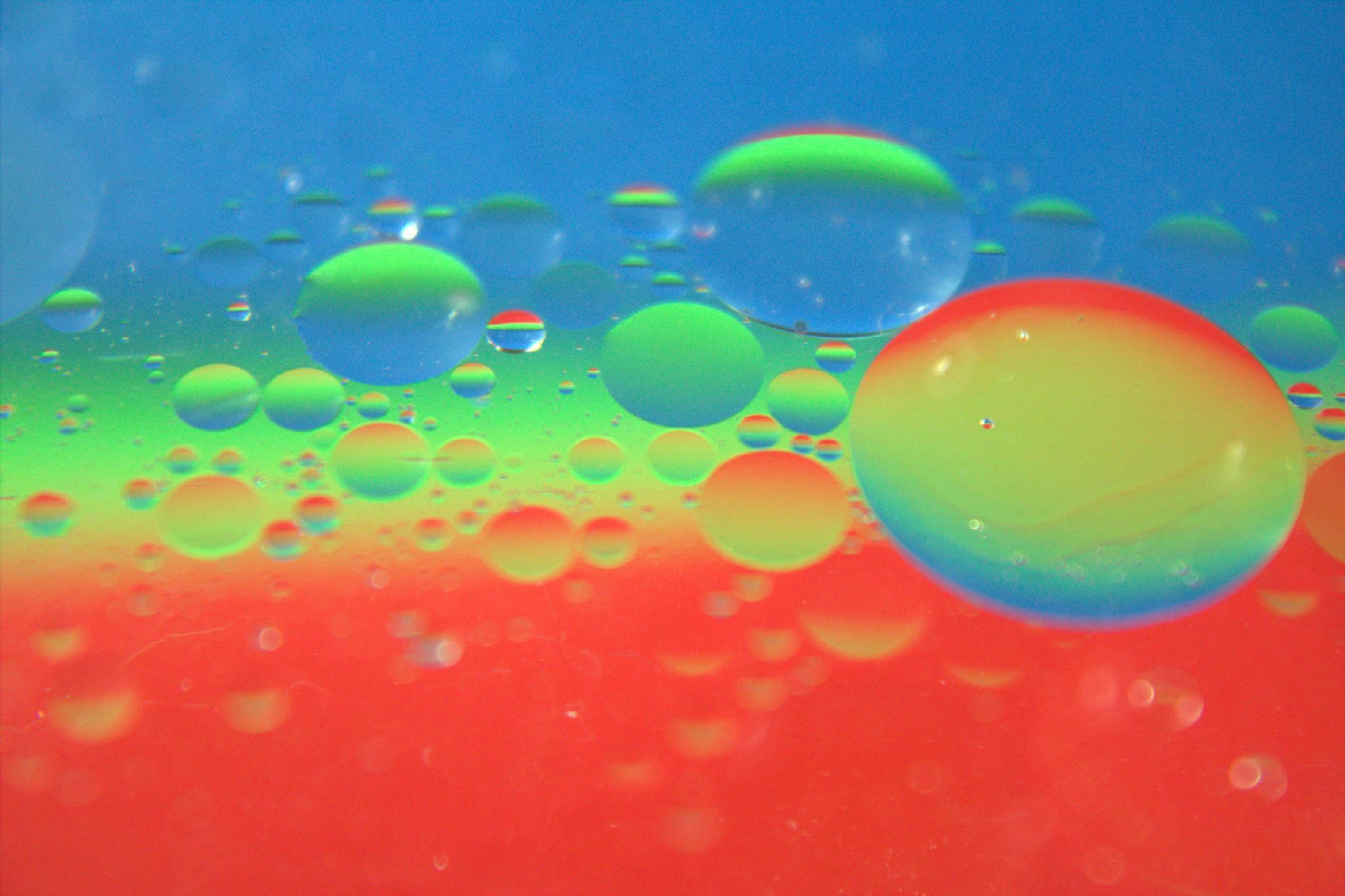 RGB on water & oil by viki mongcal