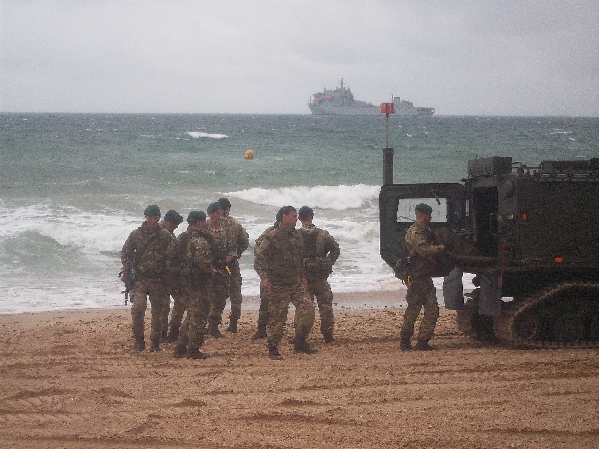 royal marines on bournemouth beach by traceybiddlecombe3666