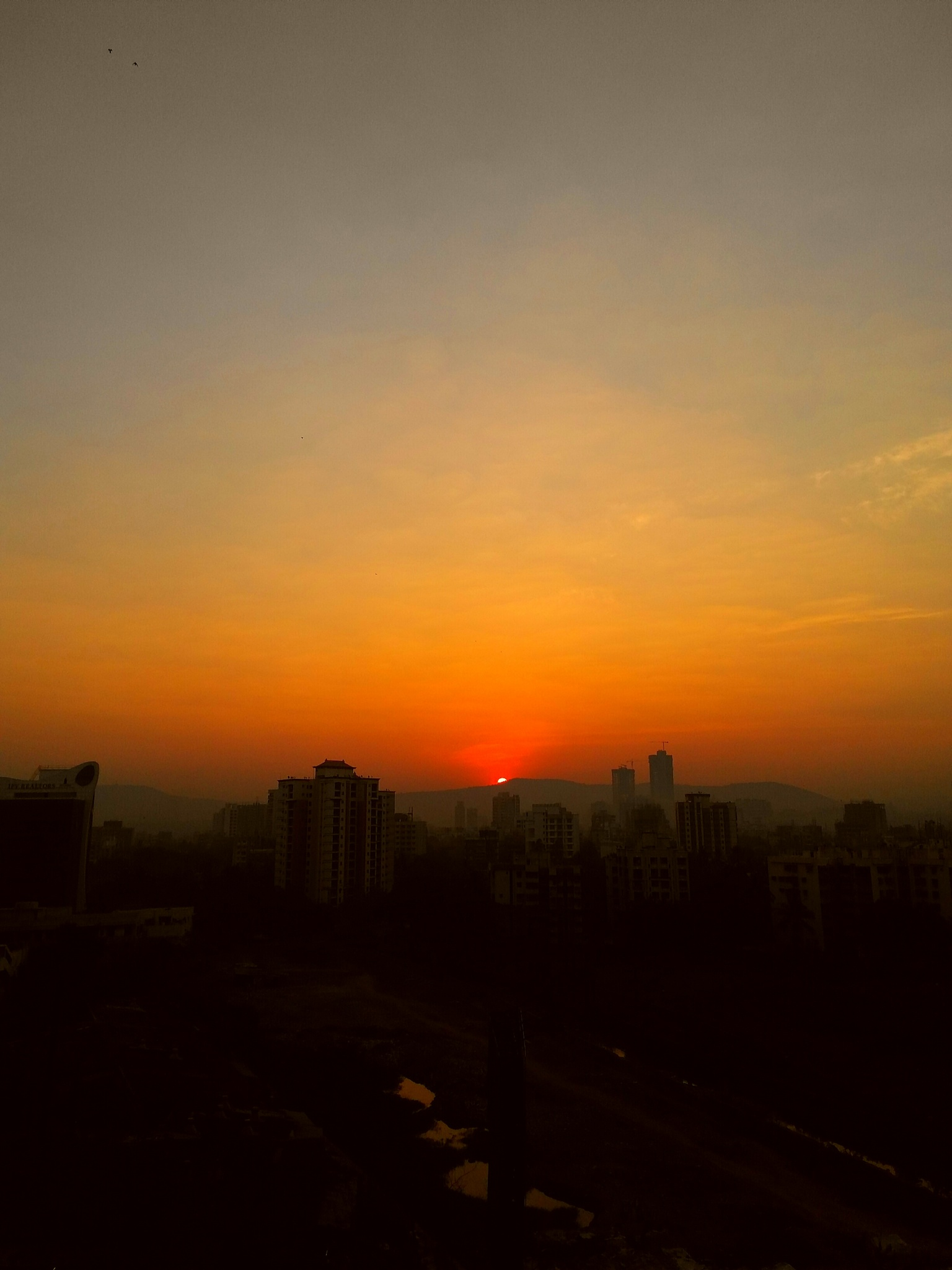 sunrise view. , Bombay, India.  by Gajendra Singhvi