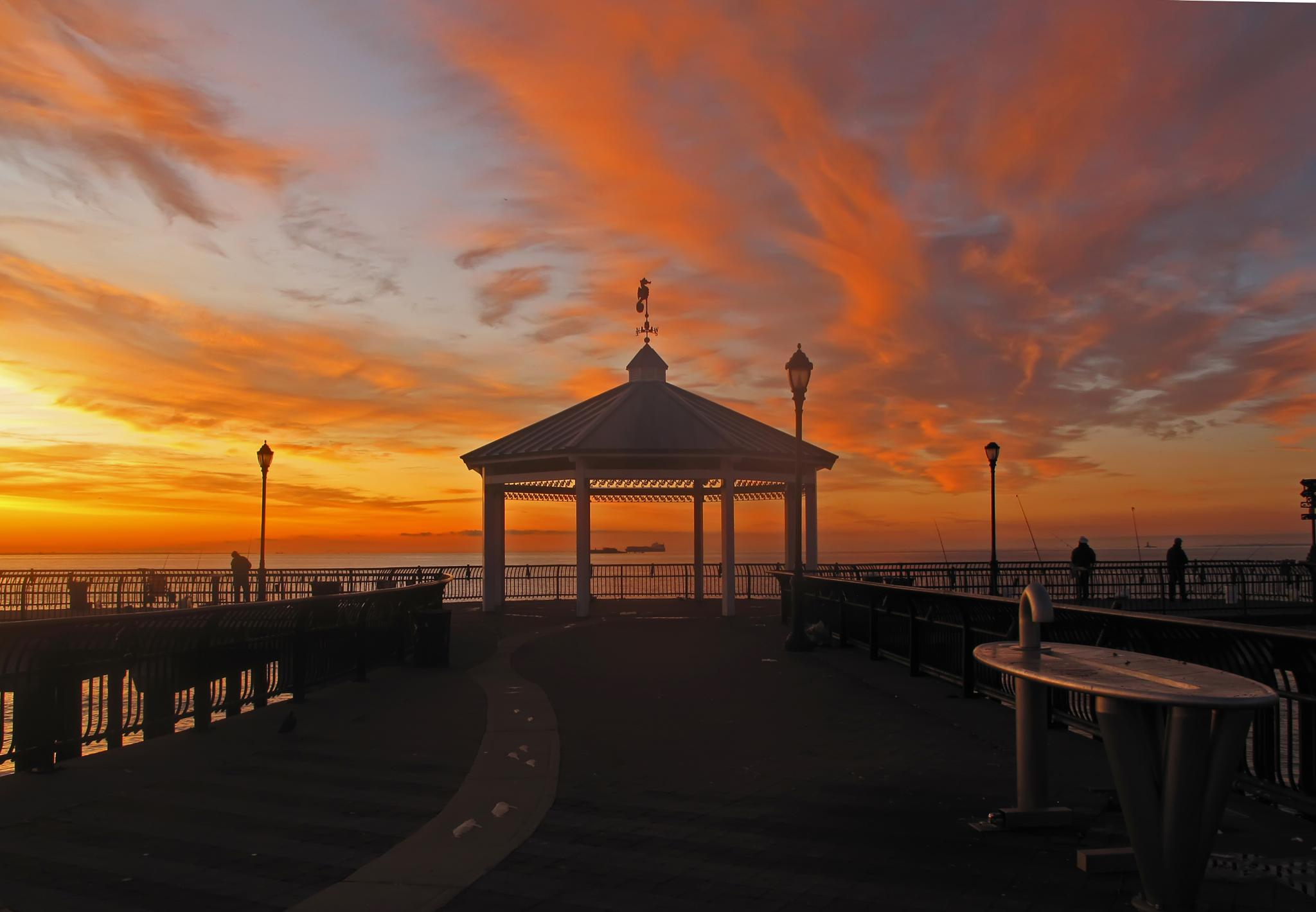 sunrise at the fisherman's pier by marianne troia