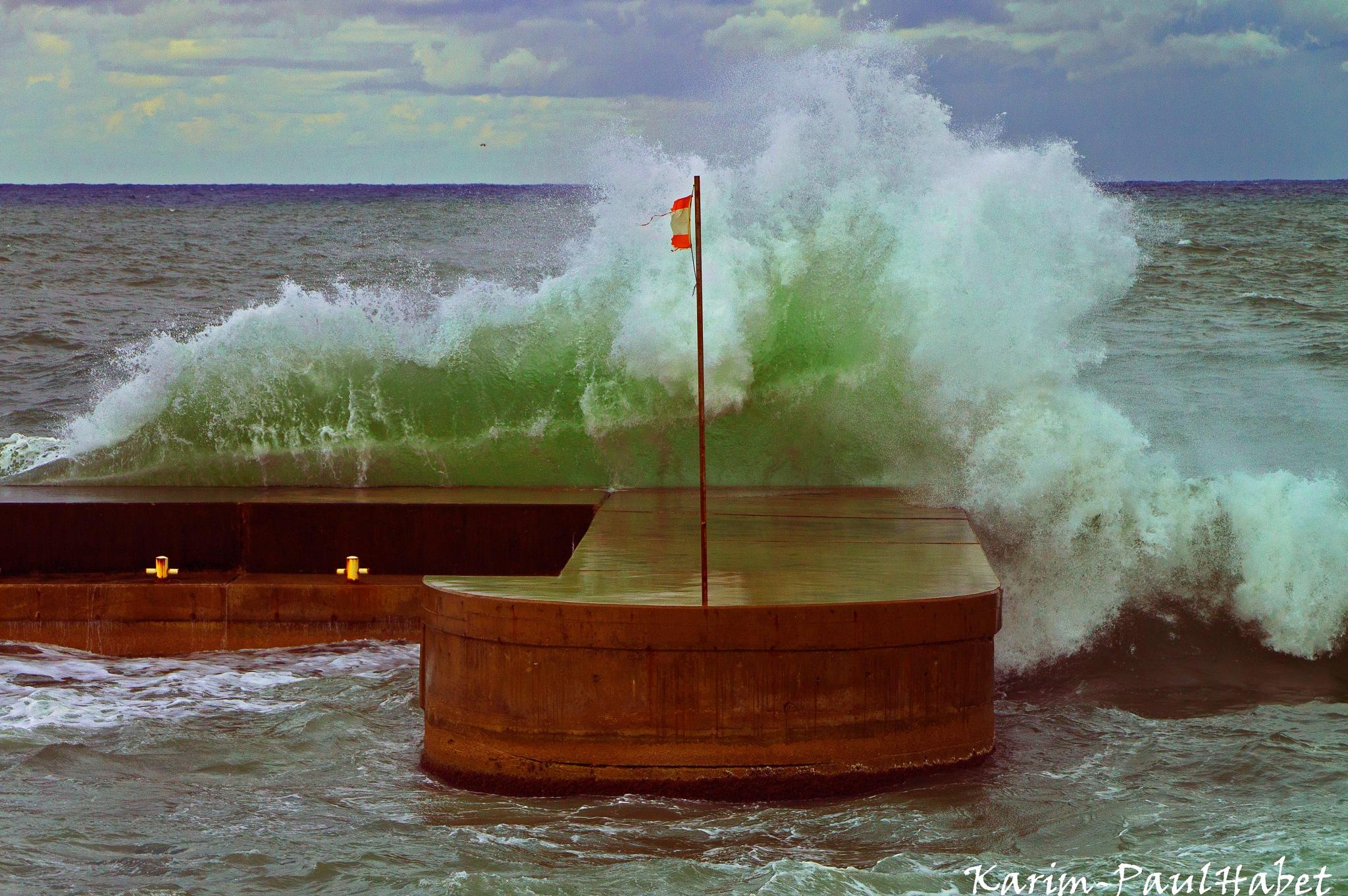 A breaking wave 2 by Karim-Paul Habet