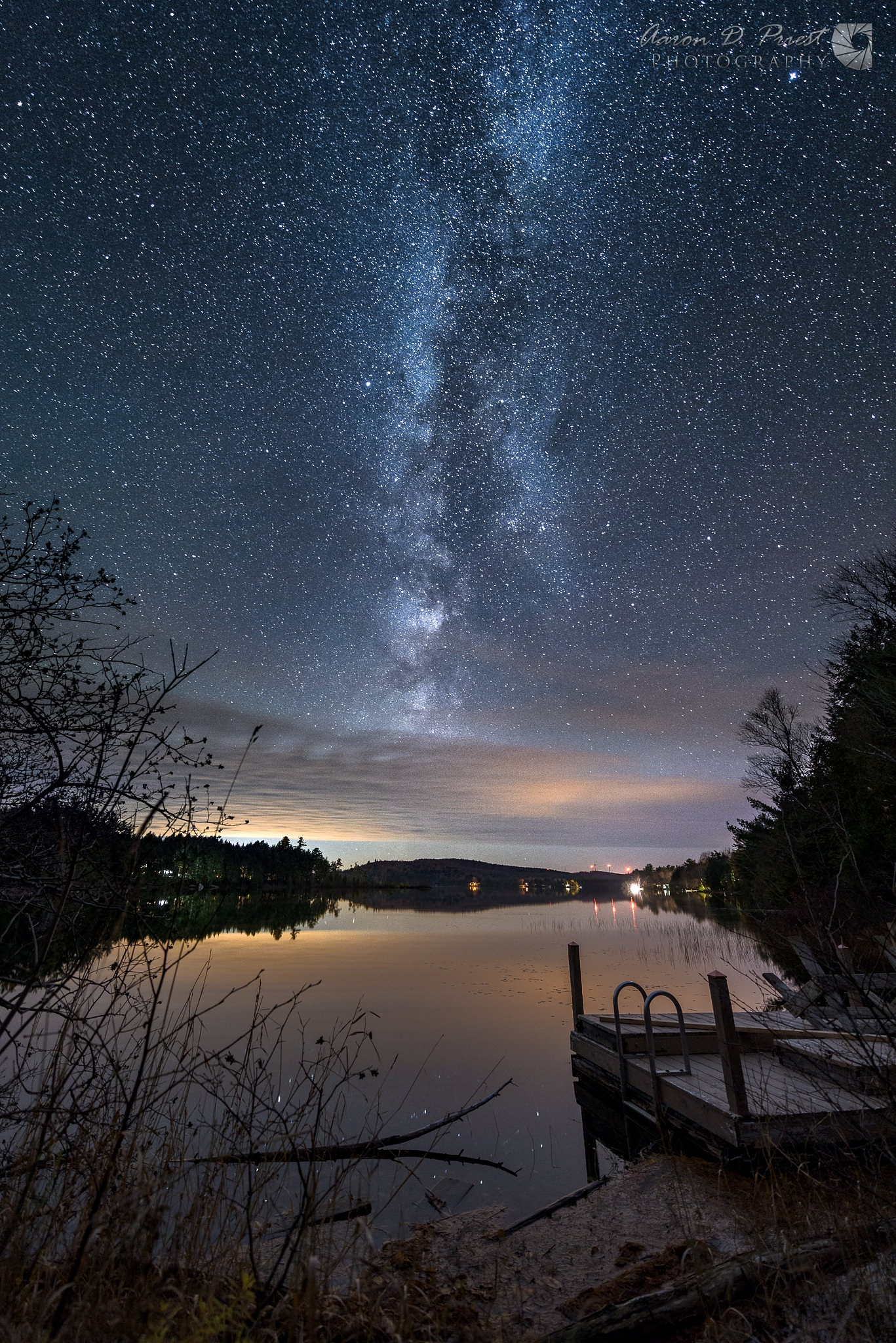 Milky Way over Silver Lake, Lee, Maine by Aaron D. Priest