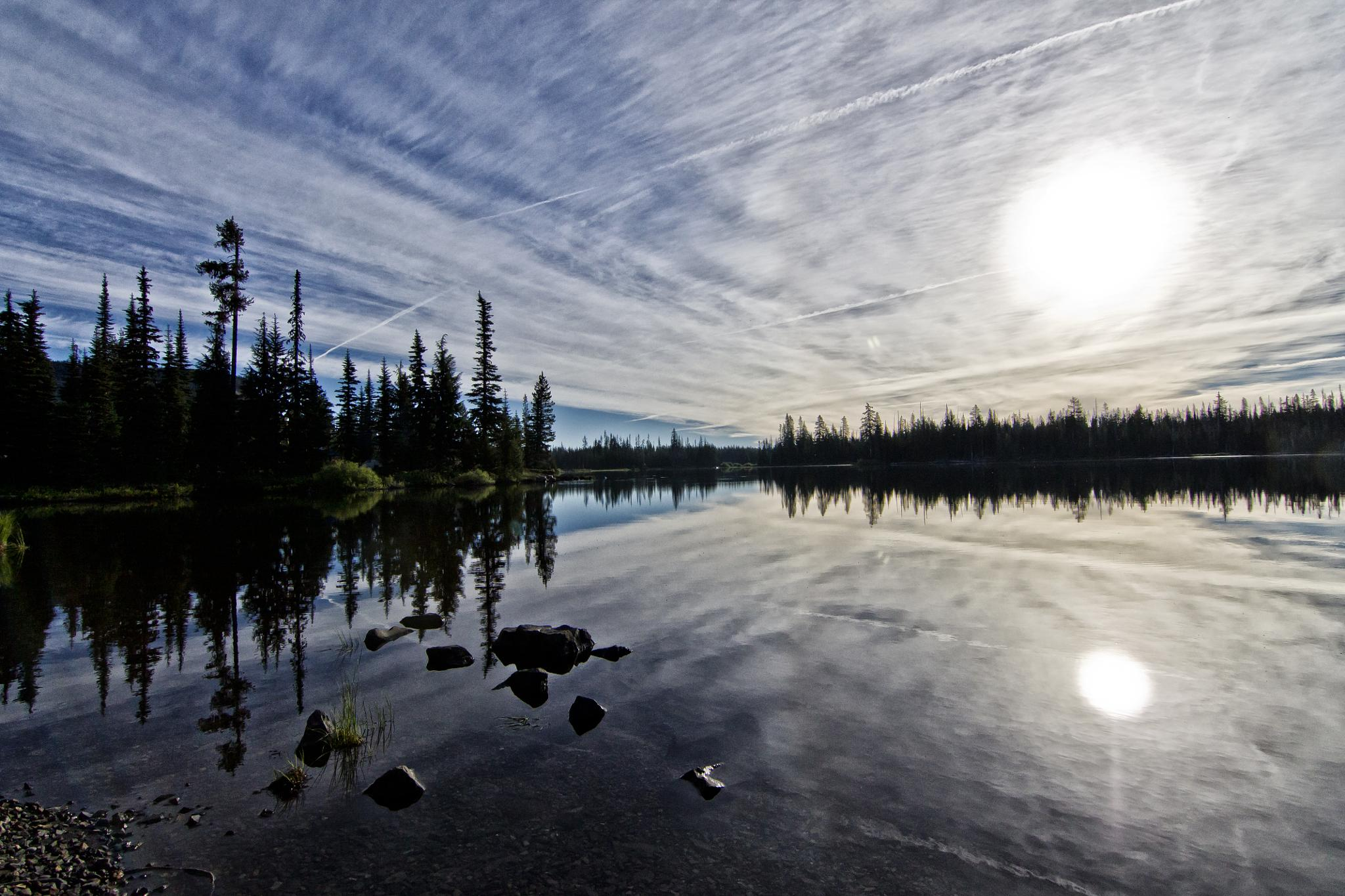Big Lake sunrise by srimmey