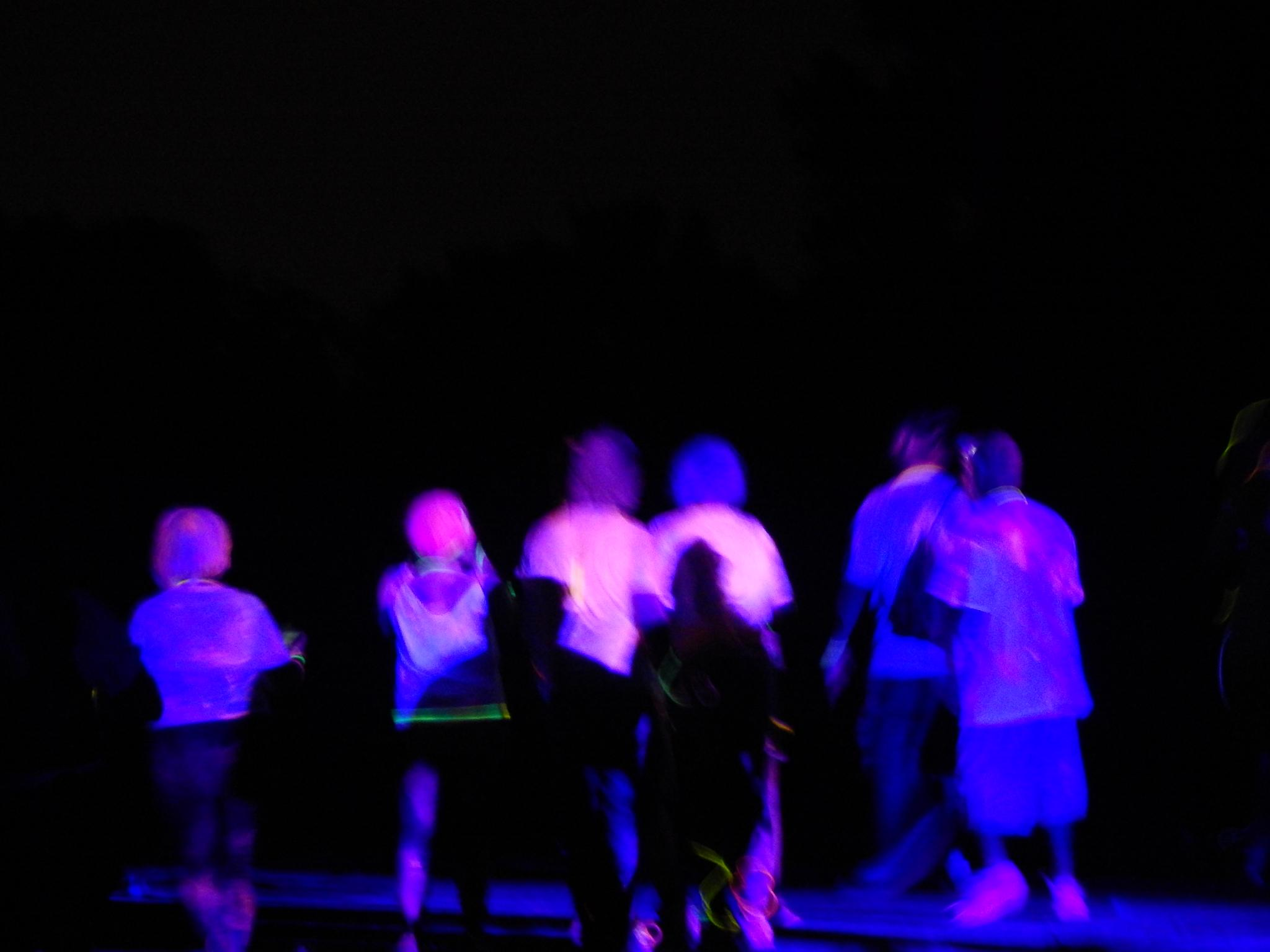 People painted and standing in Blacklight by mythree03