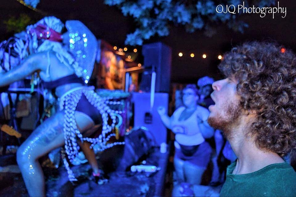 The avant-garde Golden Dawn Arkestra Band mesmerize some.  by q70images