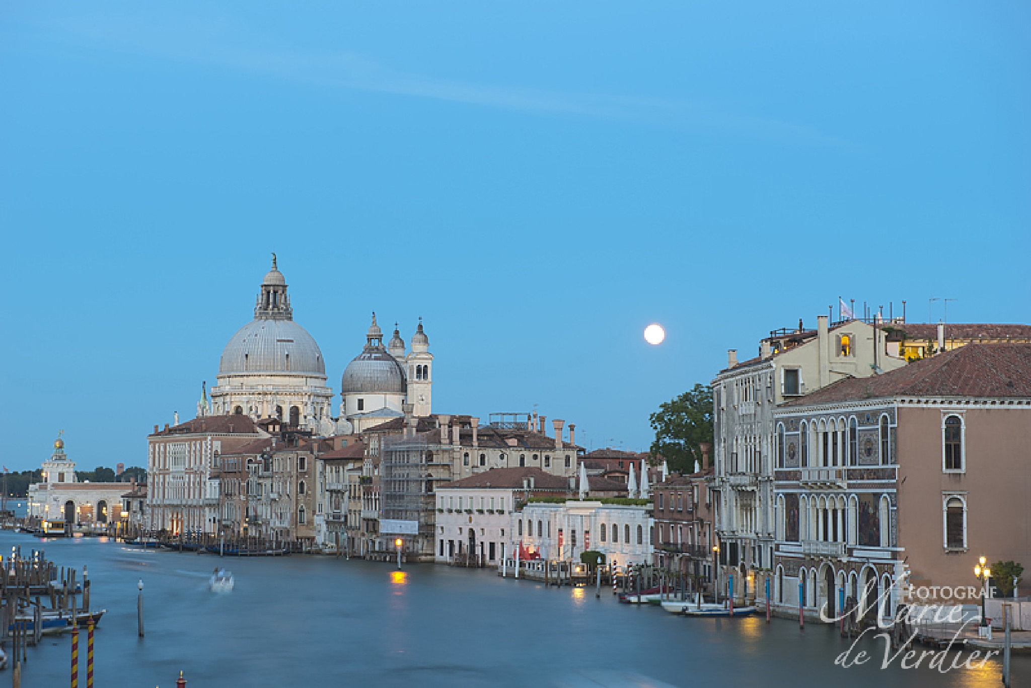 Canal Grande and full moon by marie.deverdier.persson