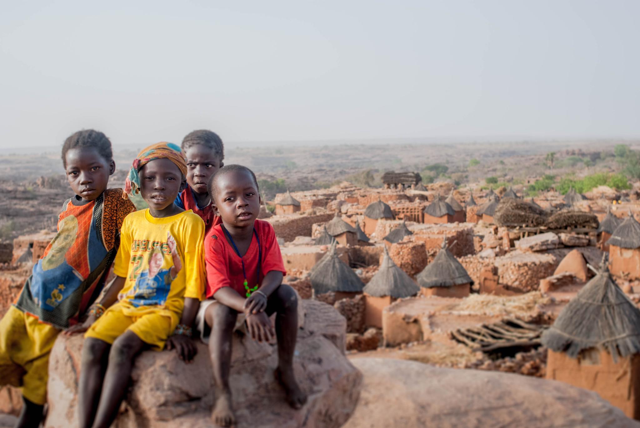 Dogon Children by Connie M Van Cleve