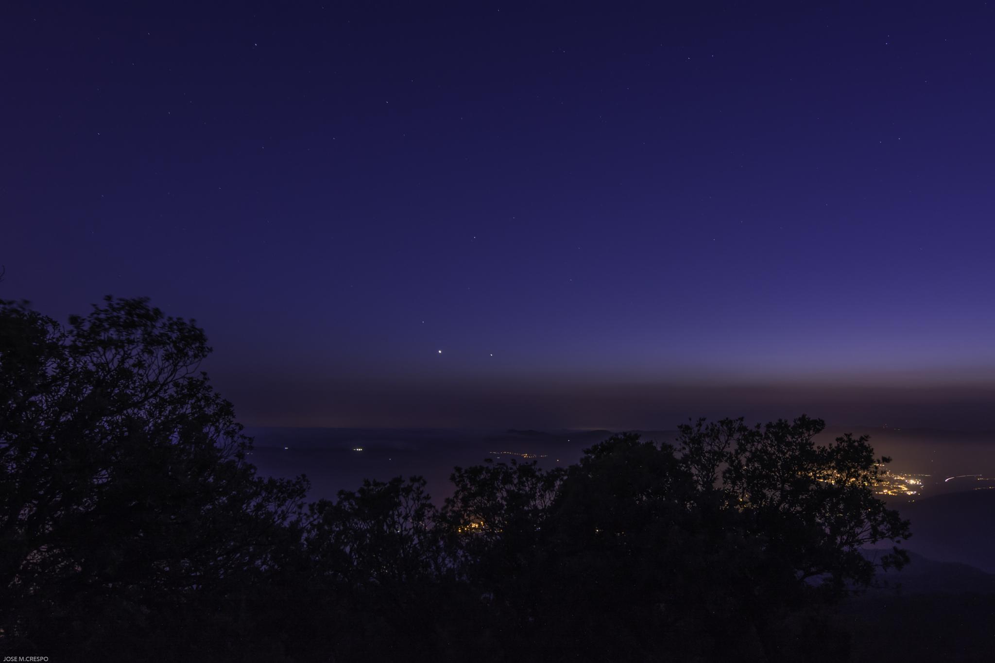 Photo in Astrophotography #venus #jupiter #nocturna #astropic
