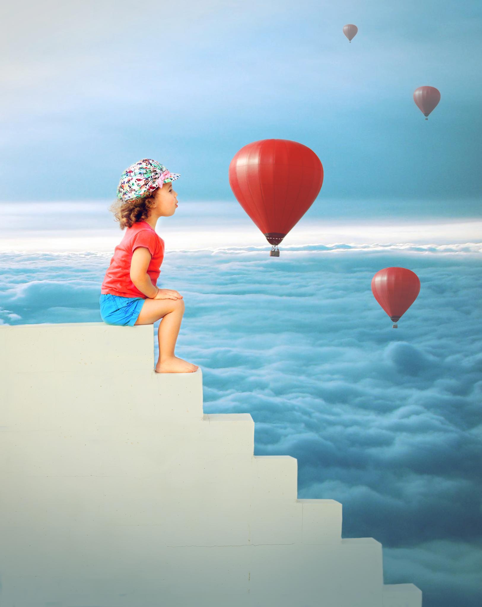 The Girl With Balloons by Jon Jon