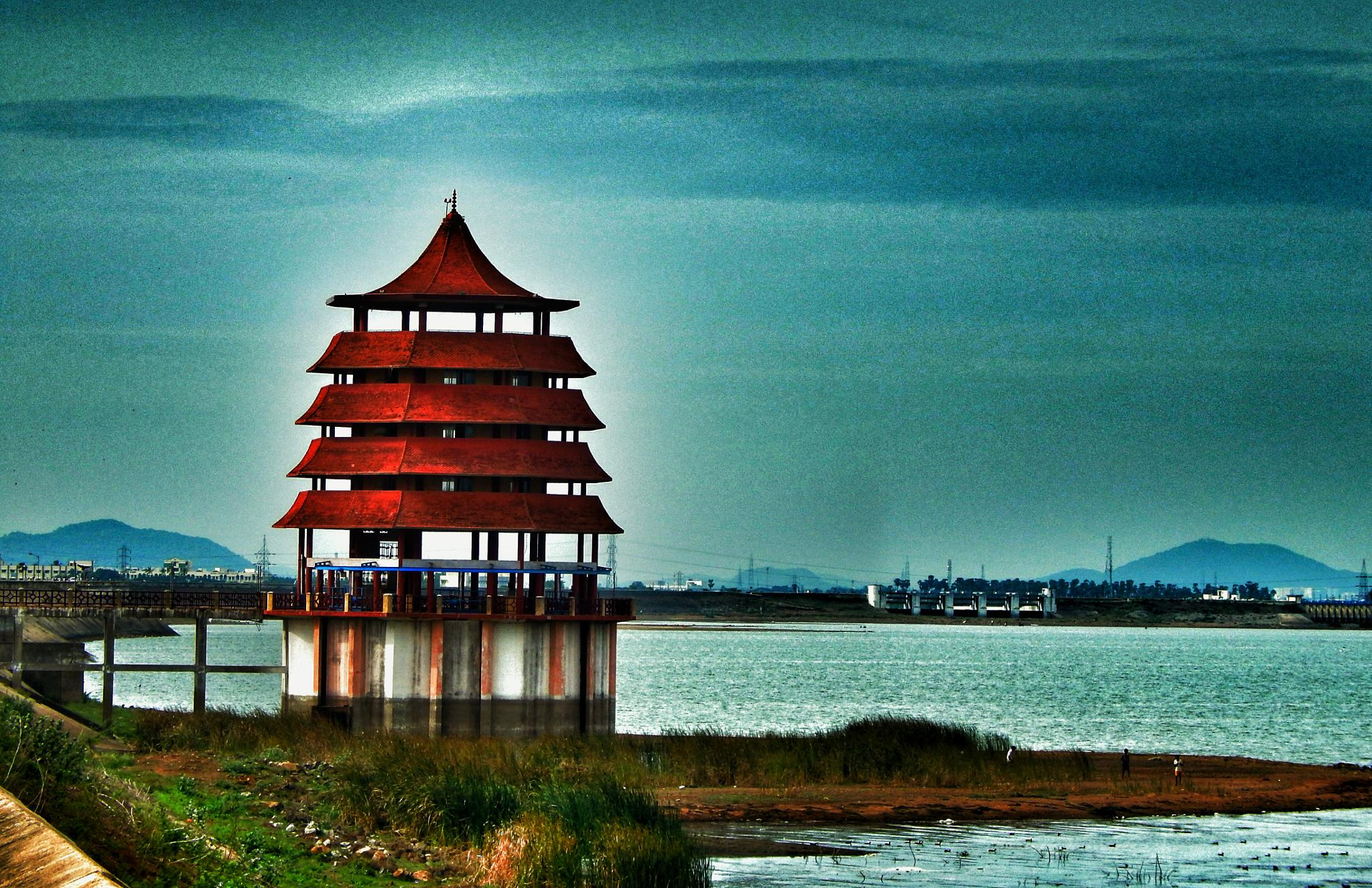 red pagoda by Aritra ghosh