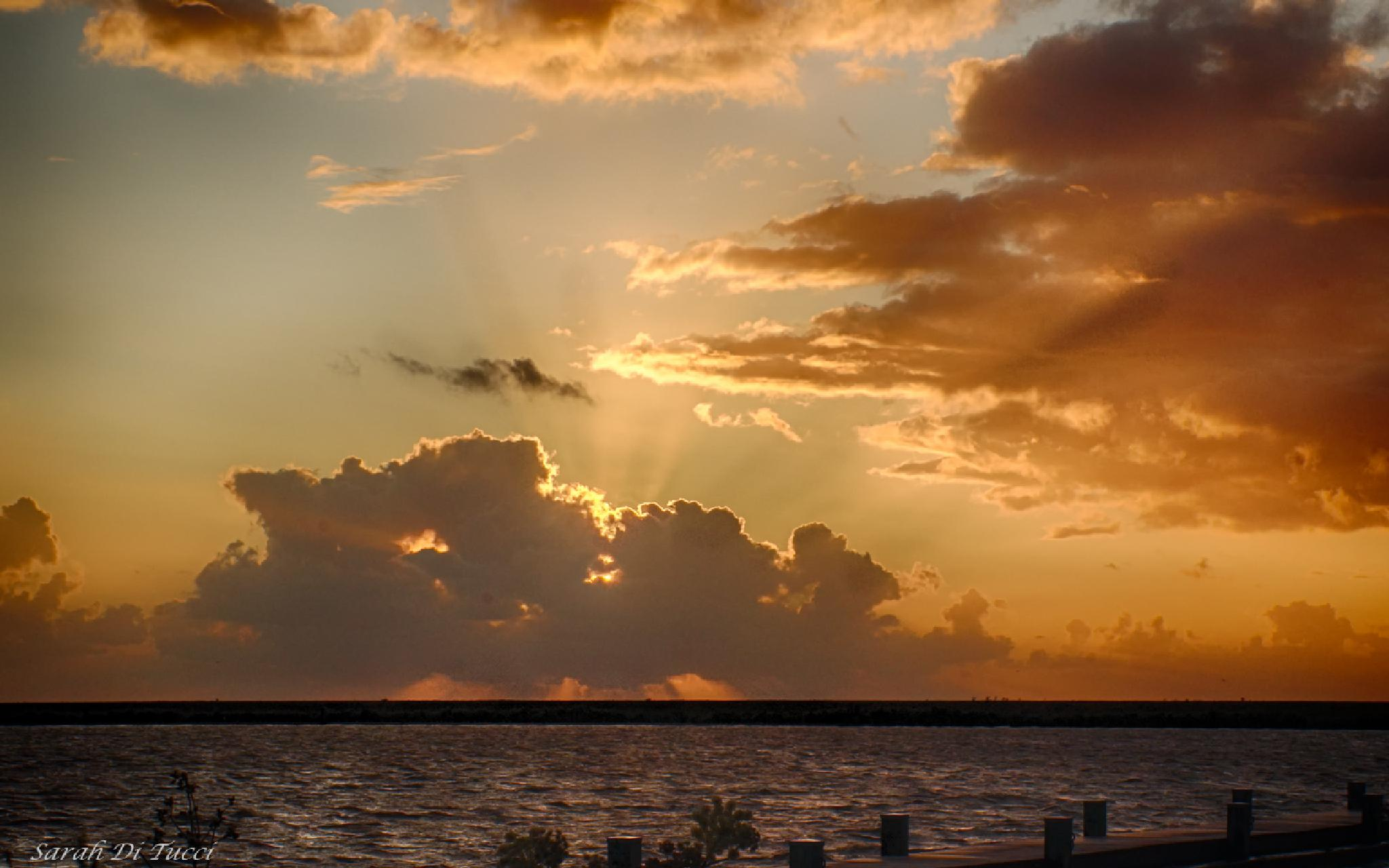 Sunset yesterday evenening by Sarah Di Tucci