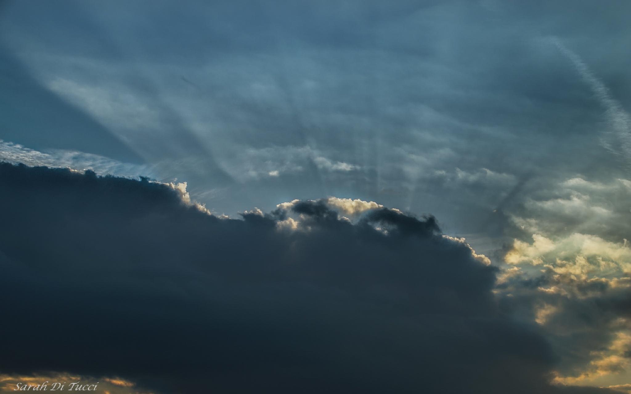 A cloudy sky... by Sarah Di Tucci