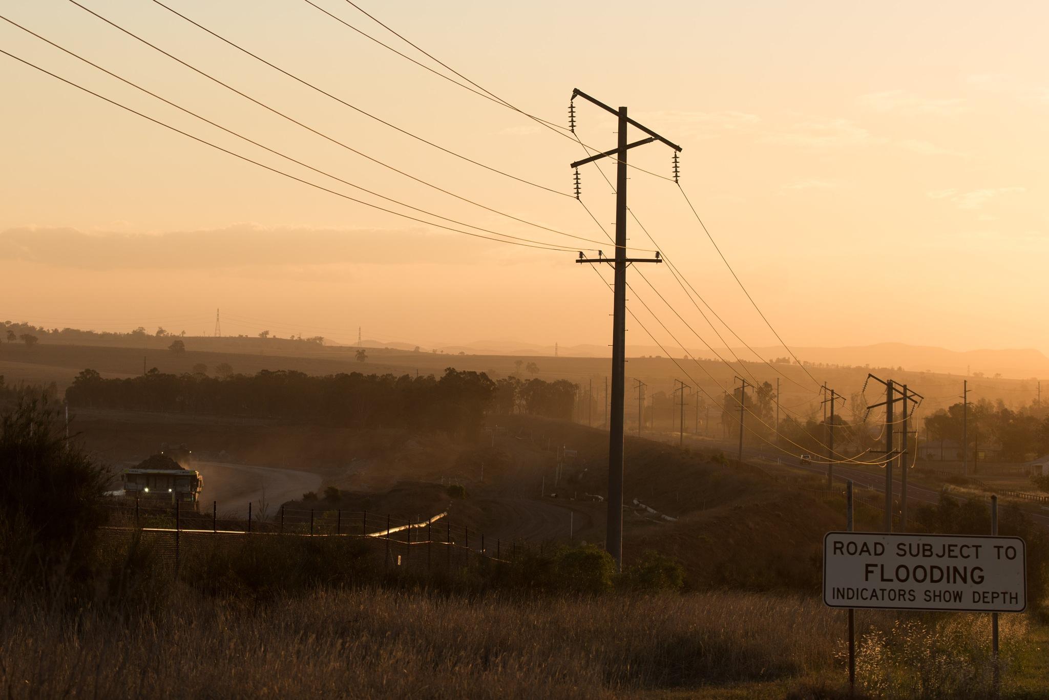 coal dust sunset  by Karl Neuman