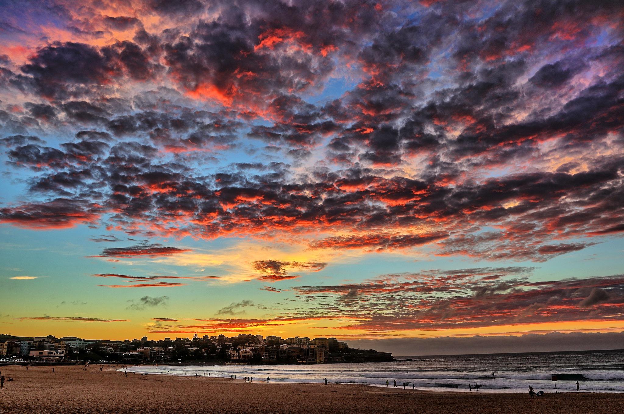 Beautiful Dawn - Bondi Beach by Richie Henson