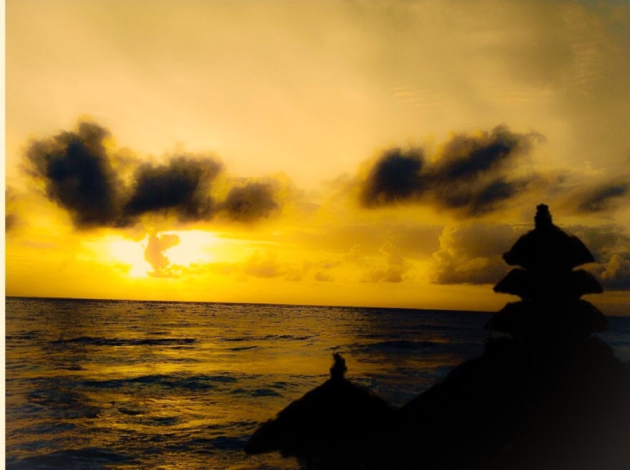 Golden sunset by Anjana Chakraborti