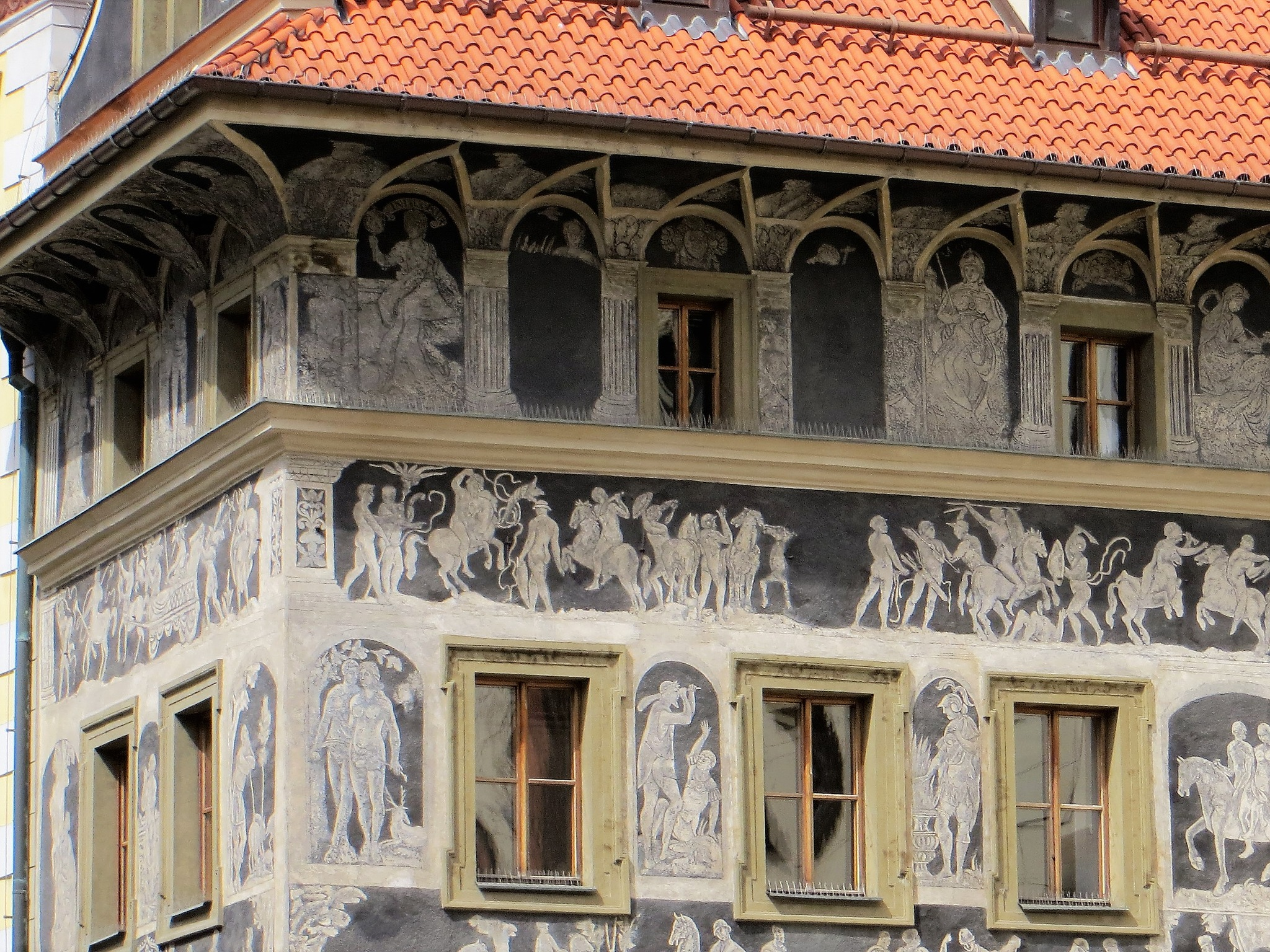old building near astronomical clock by Barbara Stockford