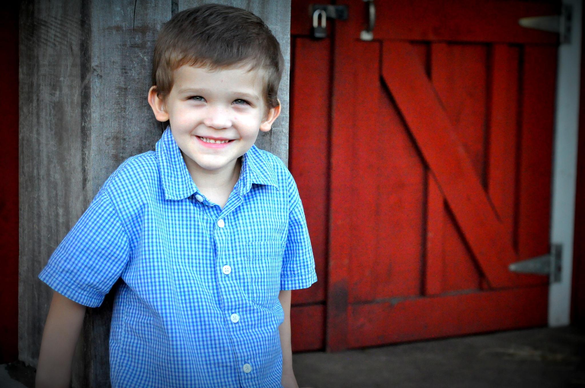 little boy on a farm by christinewestphal