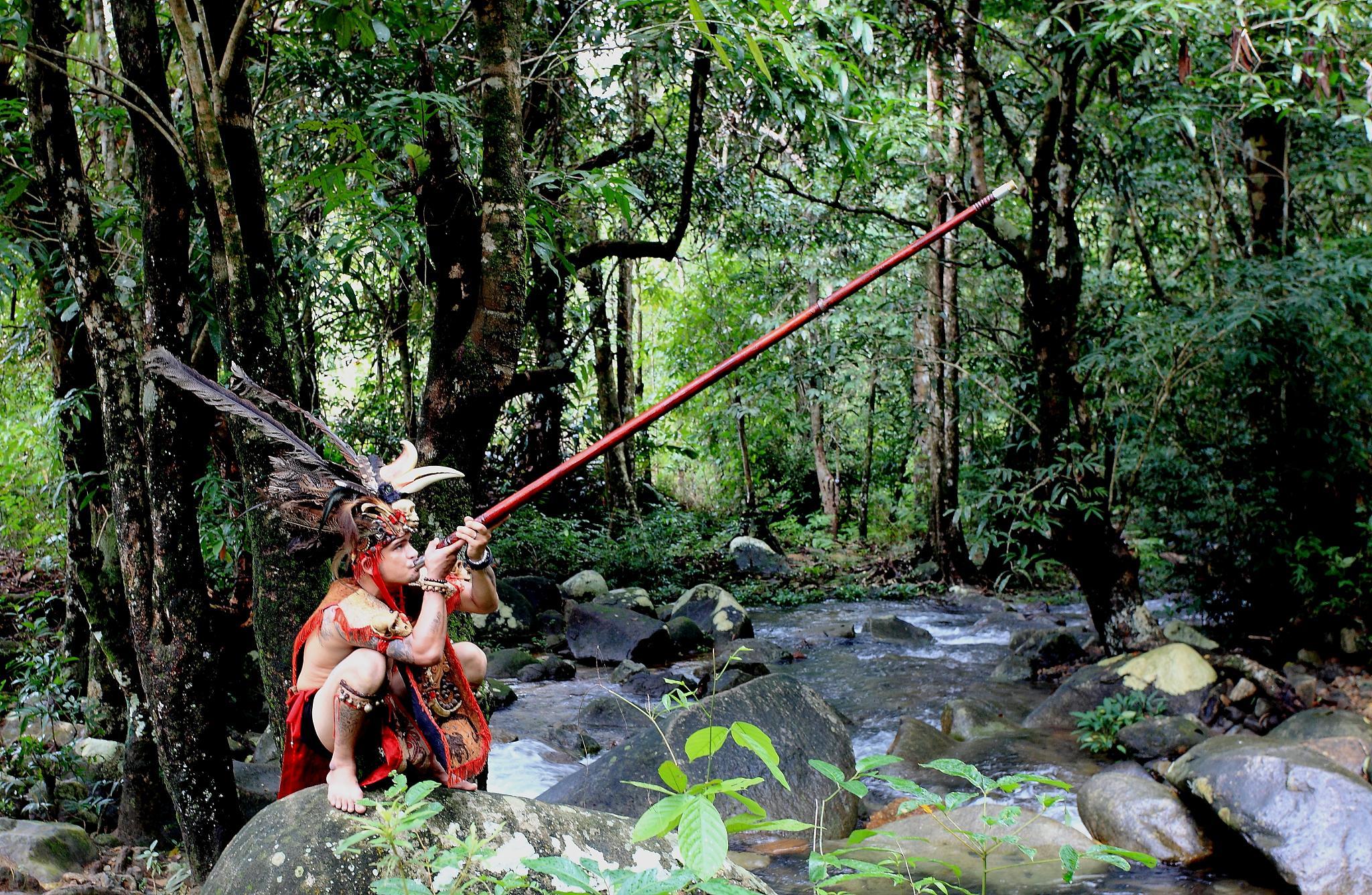 inflatable chopsticks arrows of Dayak Singkawang by liongcewong