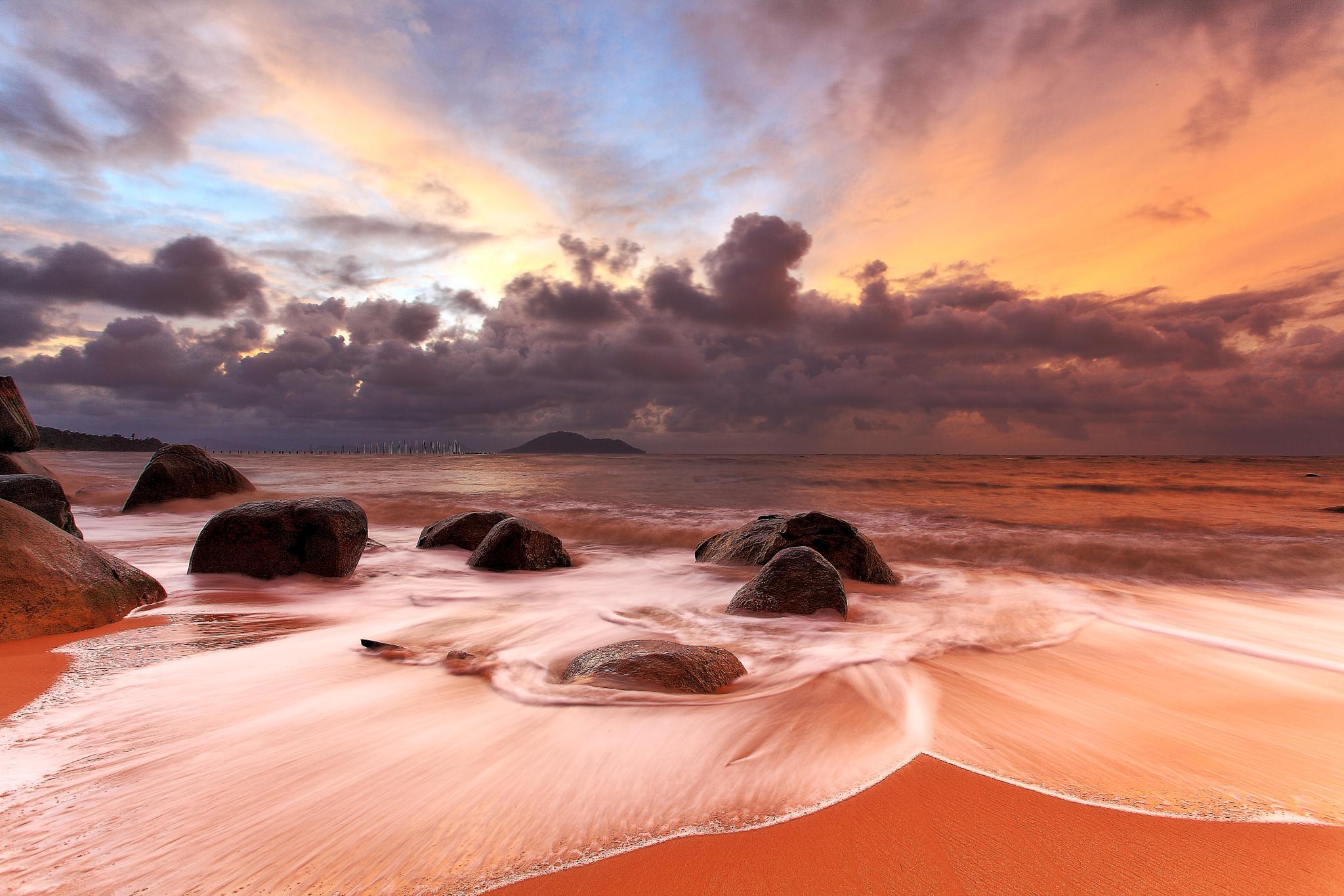 Another Sunset at Samudra Indah Beach Singkawang by liongcewong