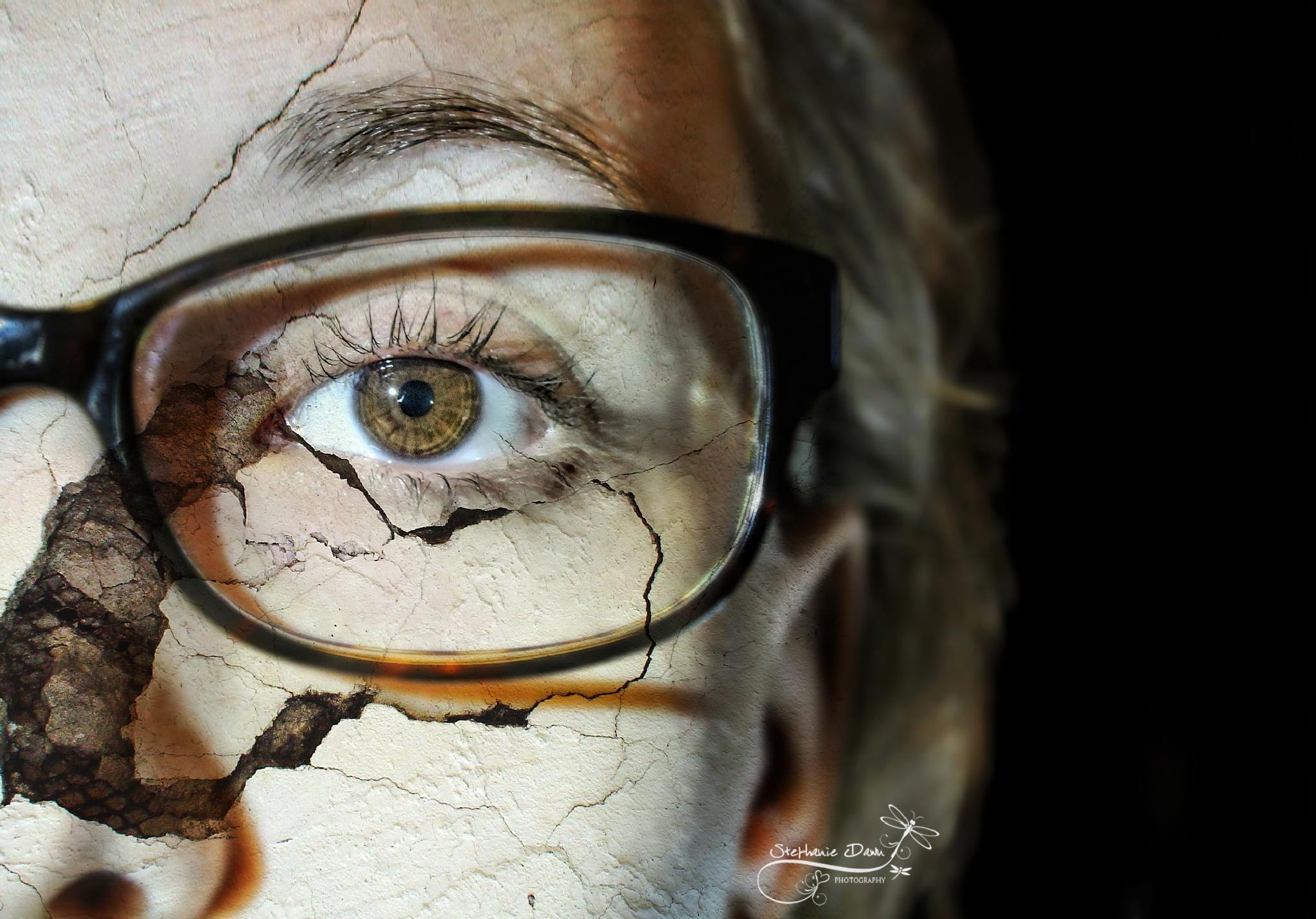 Cracked Self Portrait !! :):) by Capturelife77