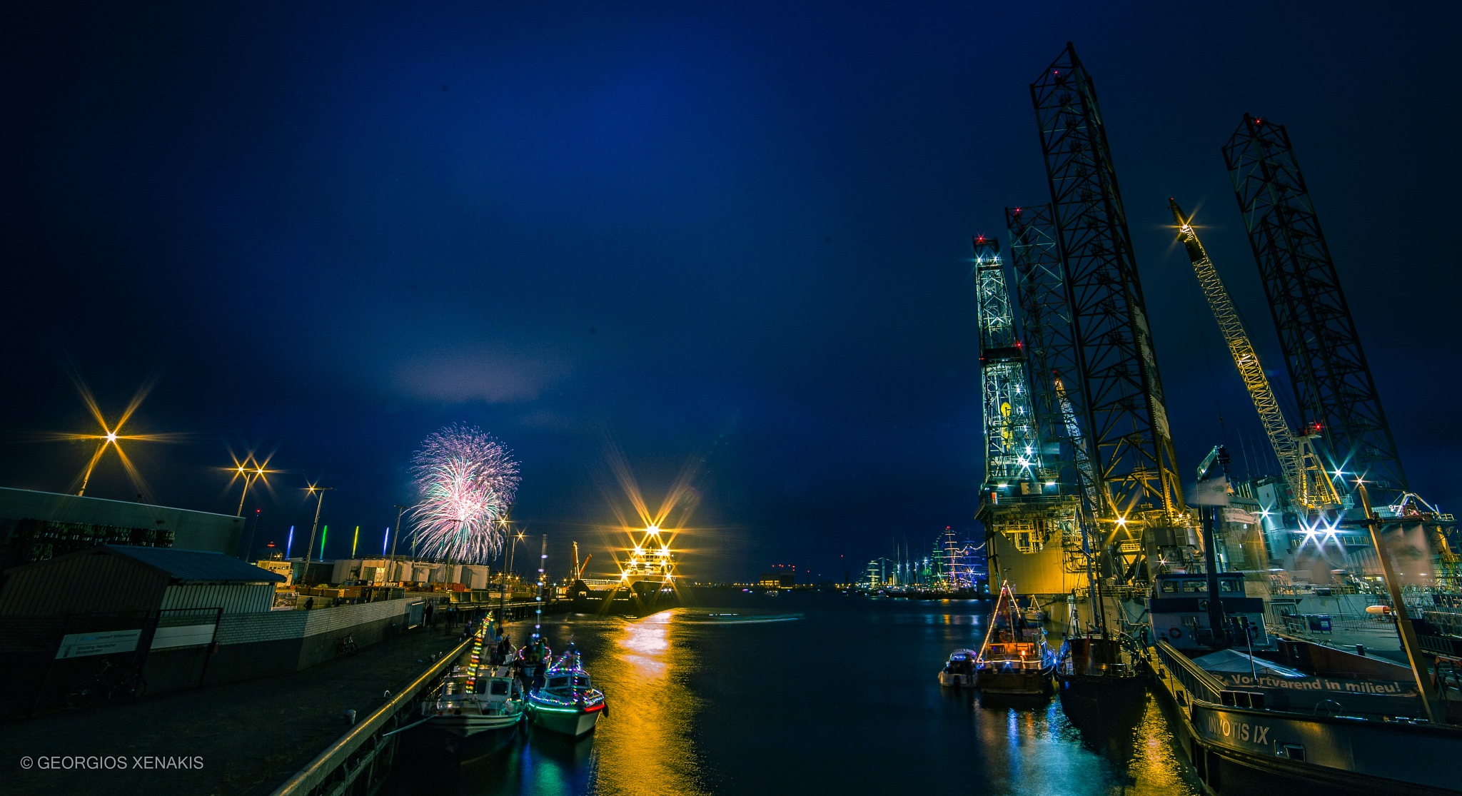 fireworks SAIL Den Helder  by Georgios Xenakis