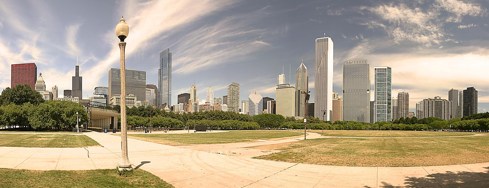 Grand Park Panoramic, Chicago. by ejdelamora
