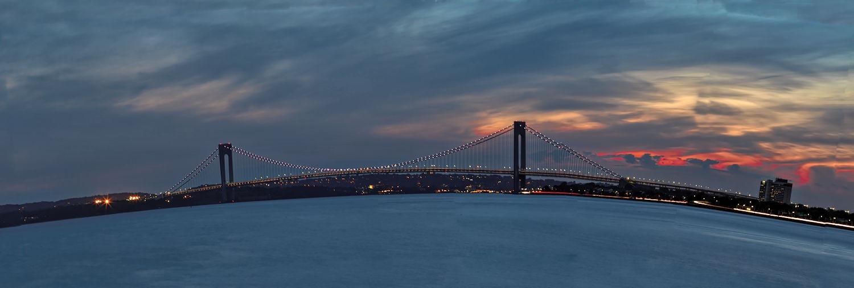 Verazano Narrows Bridge. Brooklyn. Sunset by ochemodan