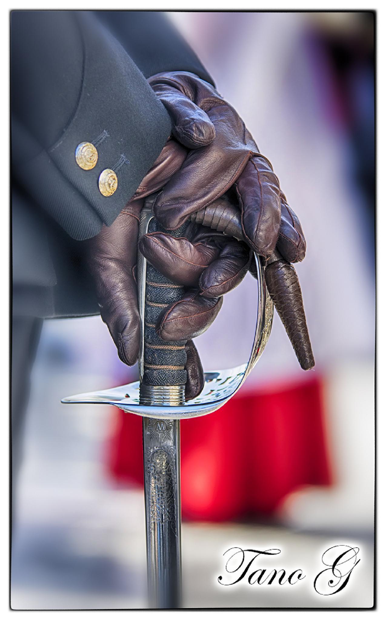 Photo in Journalism #royal marine #gibraltar #sword #handle