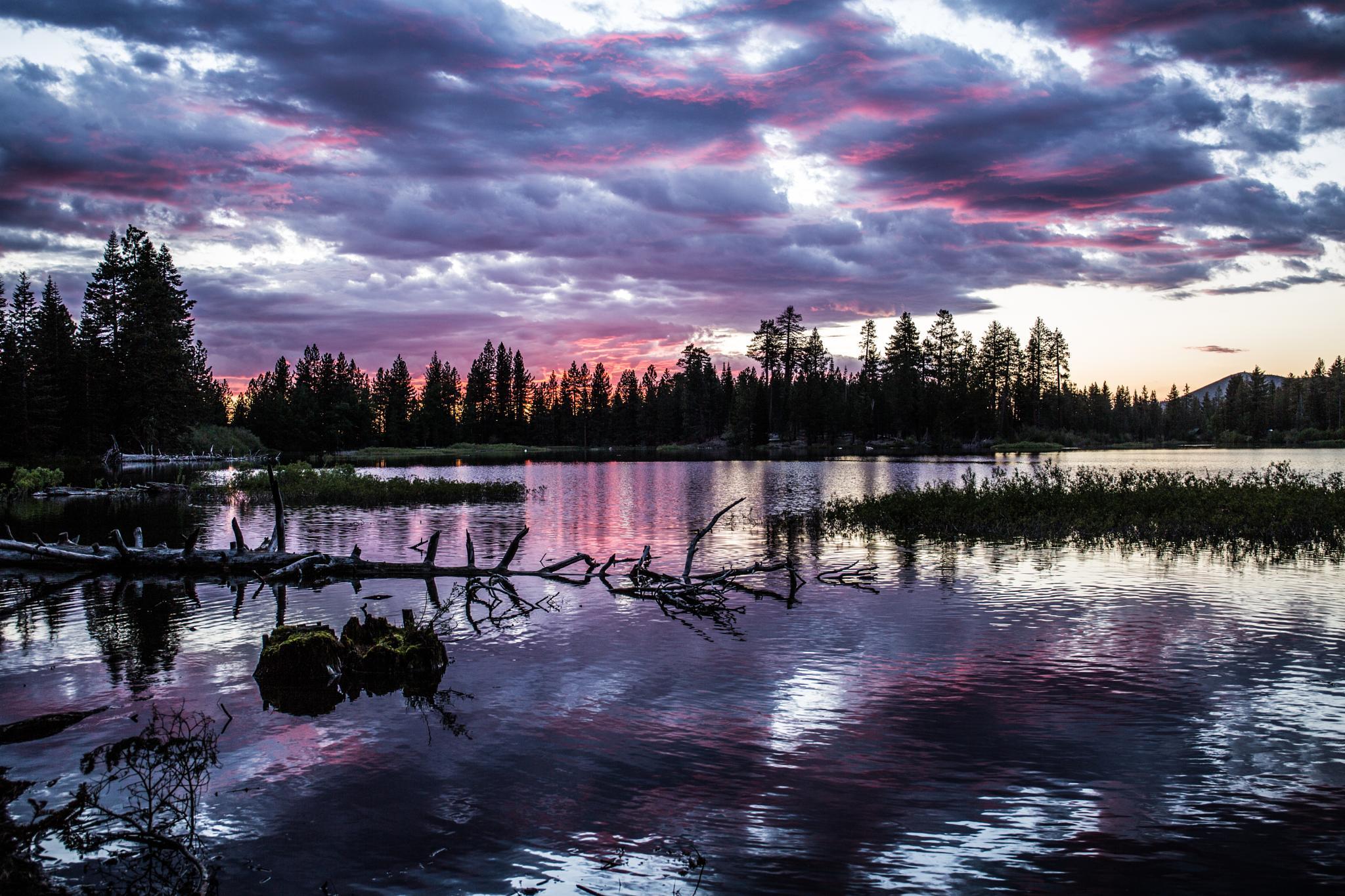 Mountain Lake Sunset by caseyonamission