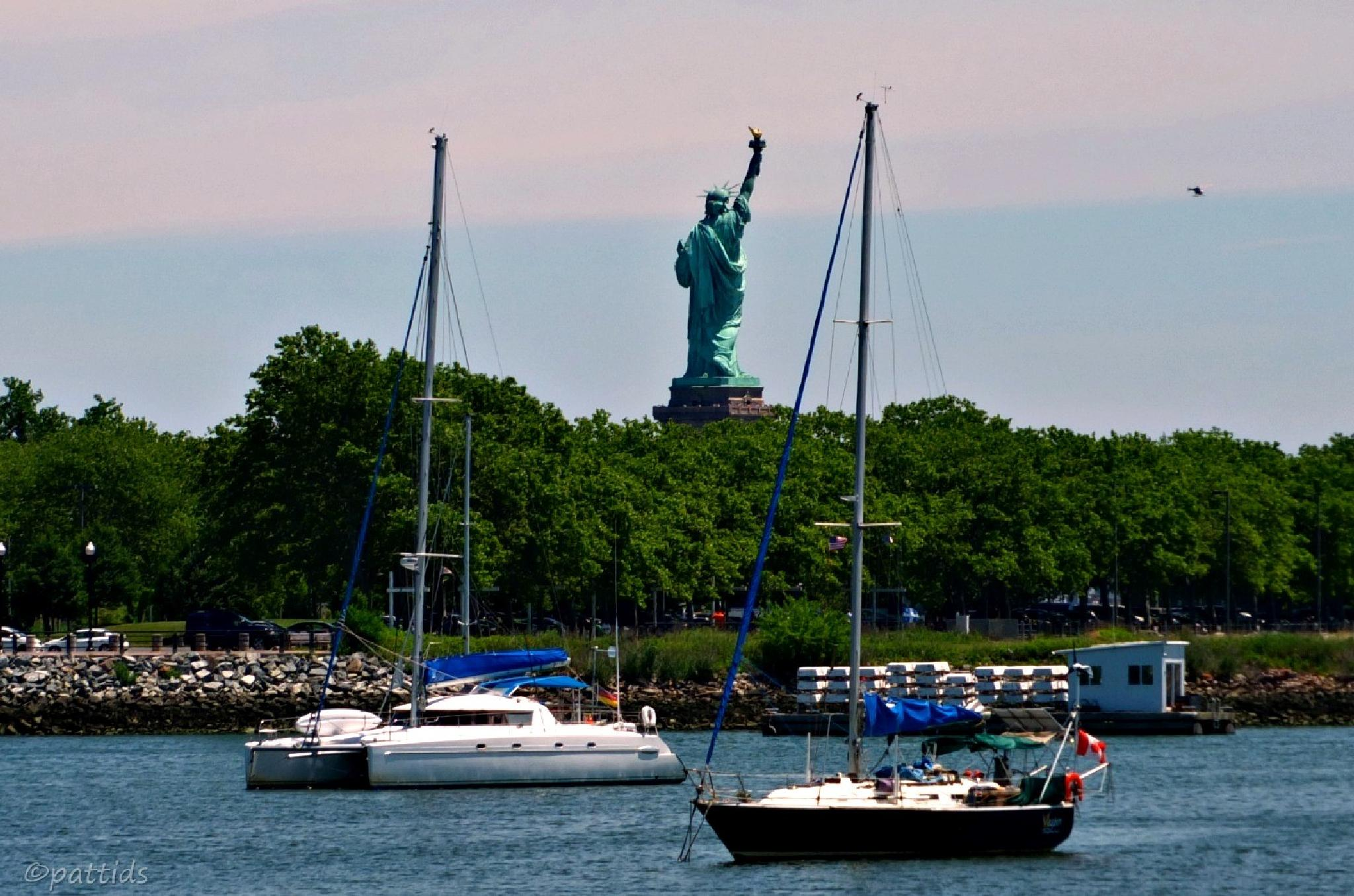 Lady Liberty from the Jersey side.... by pattids