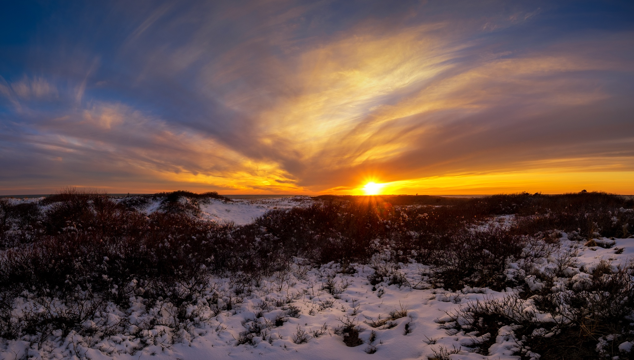Winter Sunset by Dominick Chiuchiolo