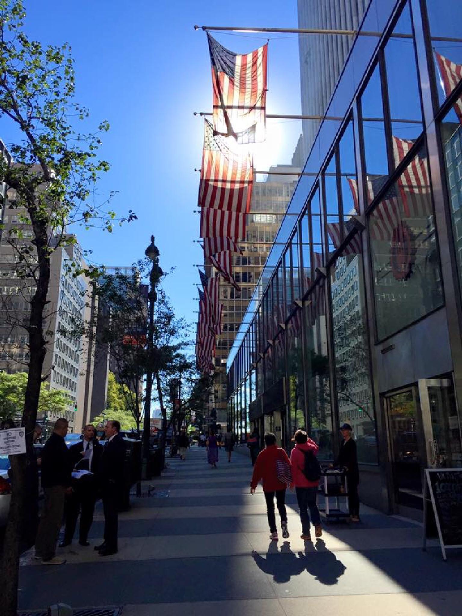 Walking upstreet by Cheentz