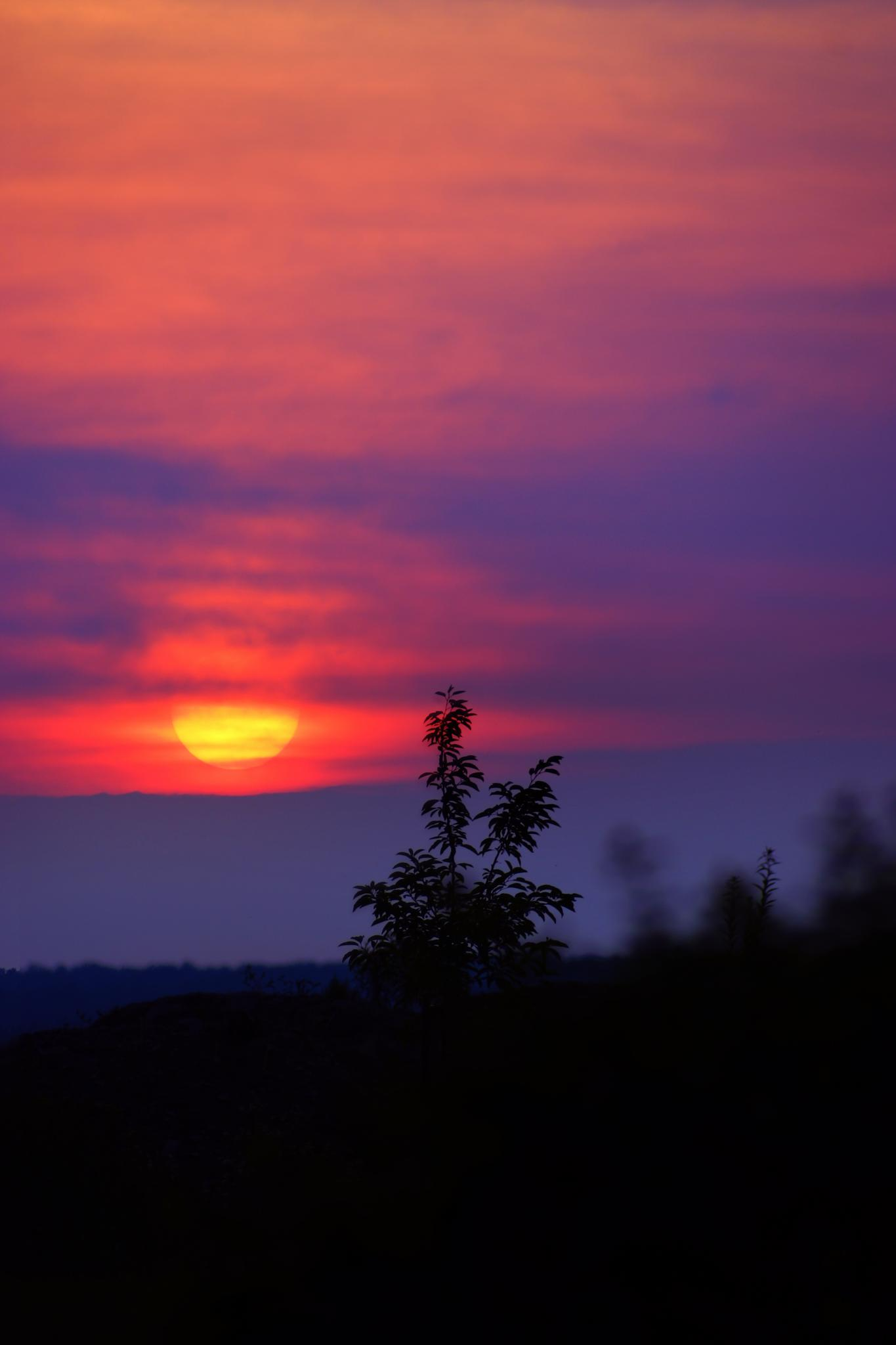 Dramatic sunset by sylviecorriveau