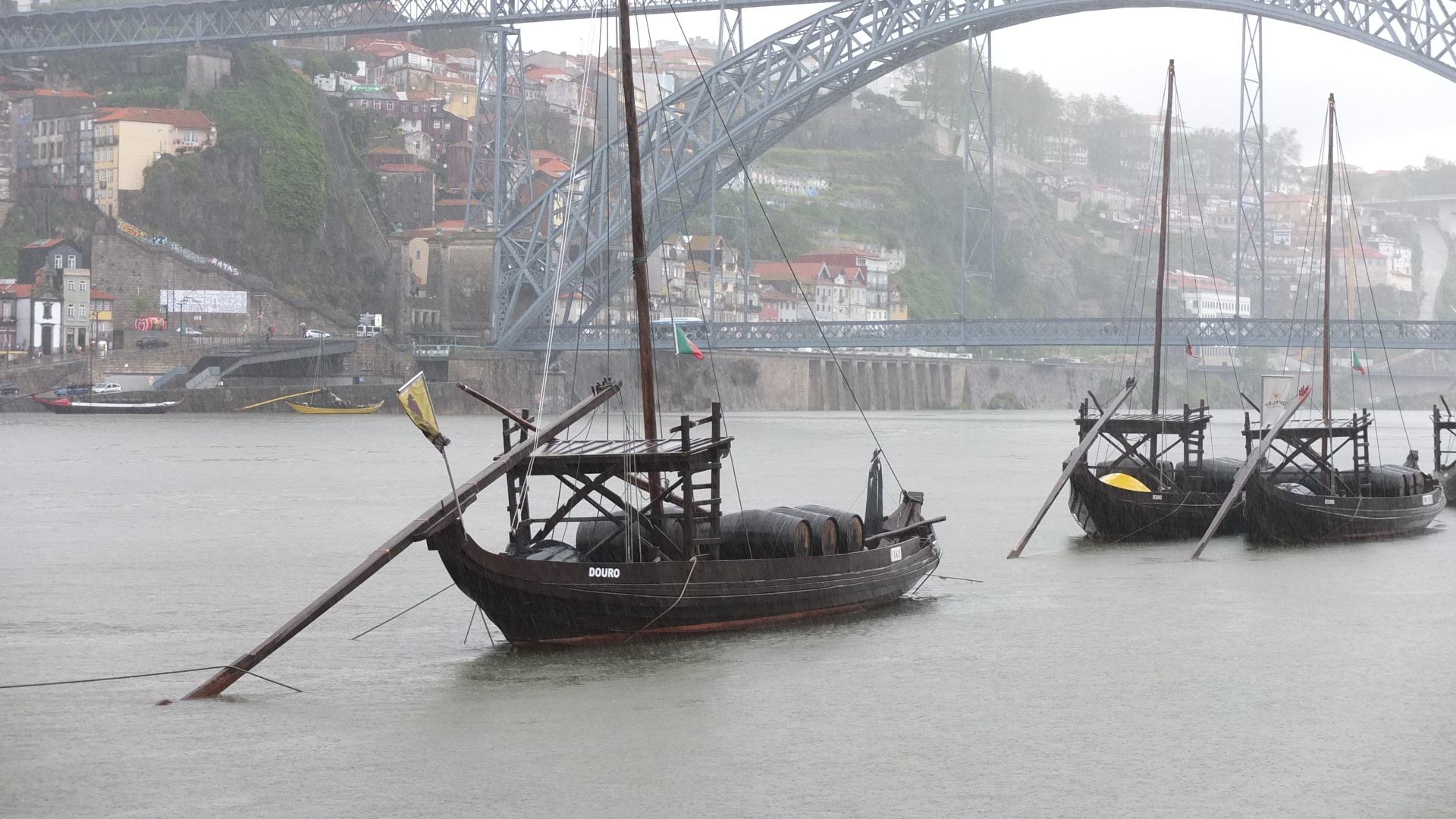 boat on the river Douro by Janno Vään