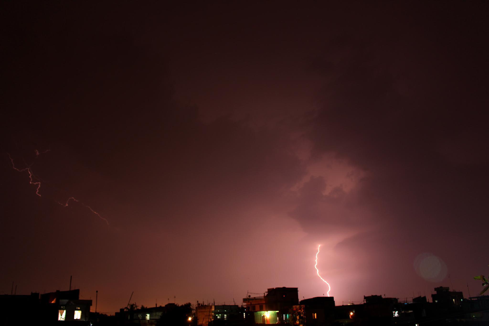 Lightening Strikes by Er Saroj Shah