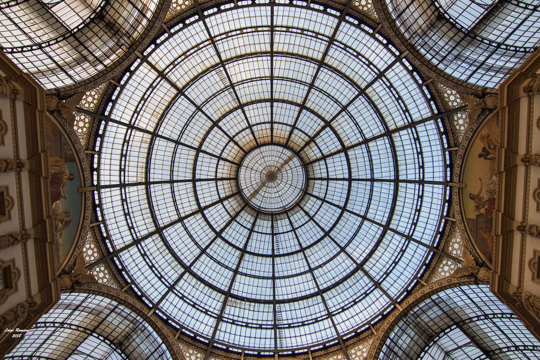 The dome of the Galleria Vittorio Emanuele in Milan by Luigi Romano