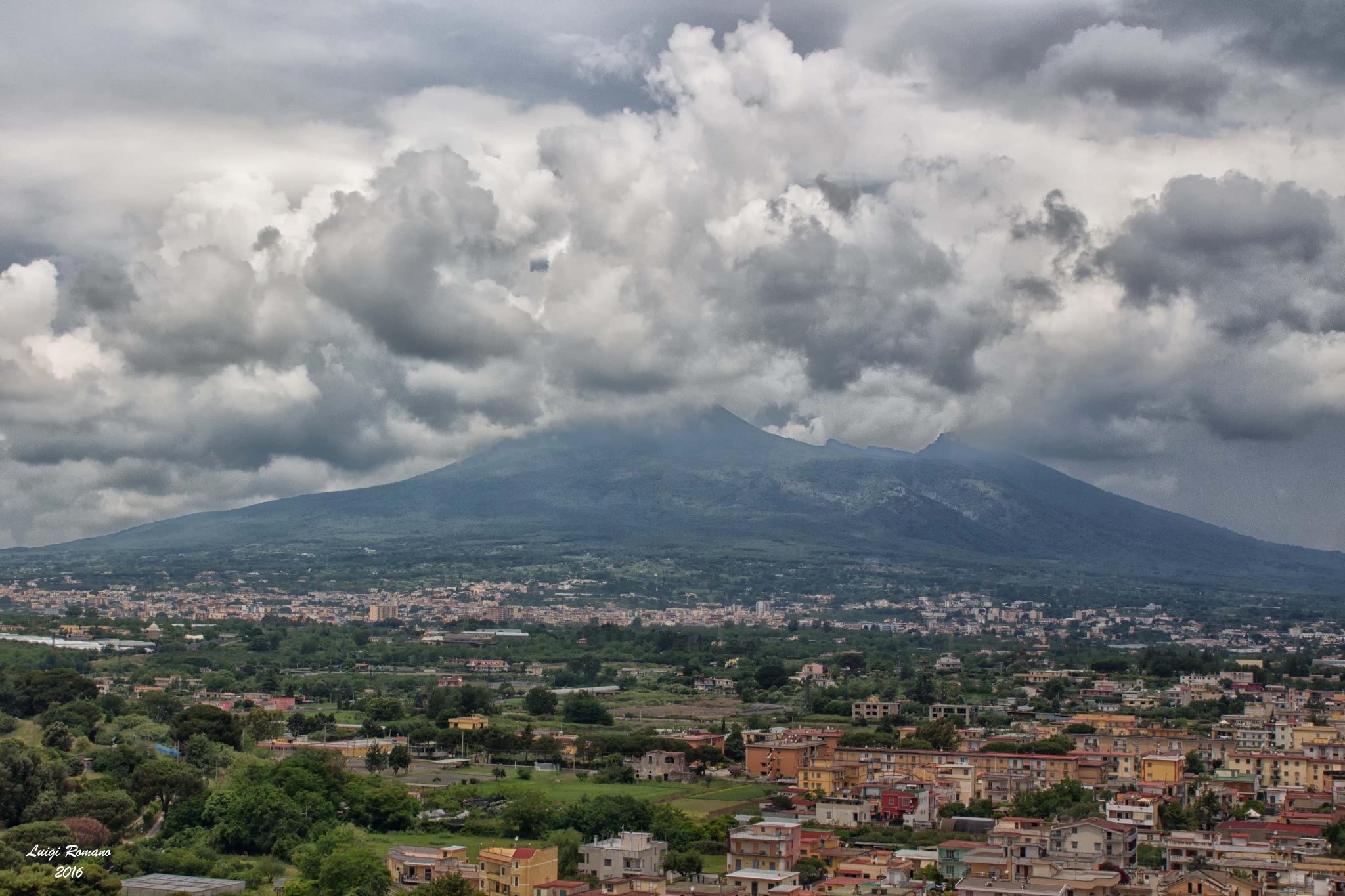 Vesuvius in the clouds by Luigi Romano
