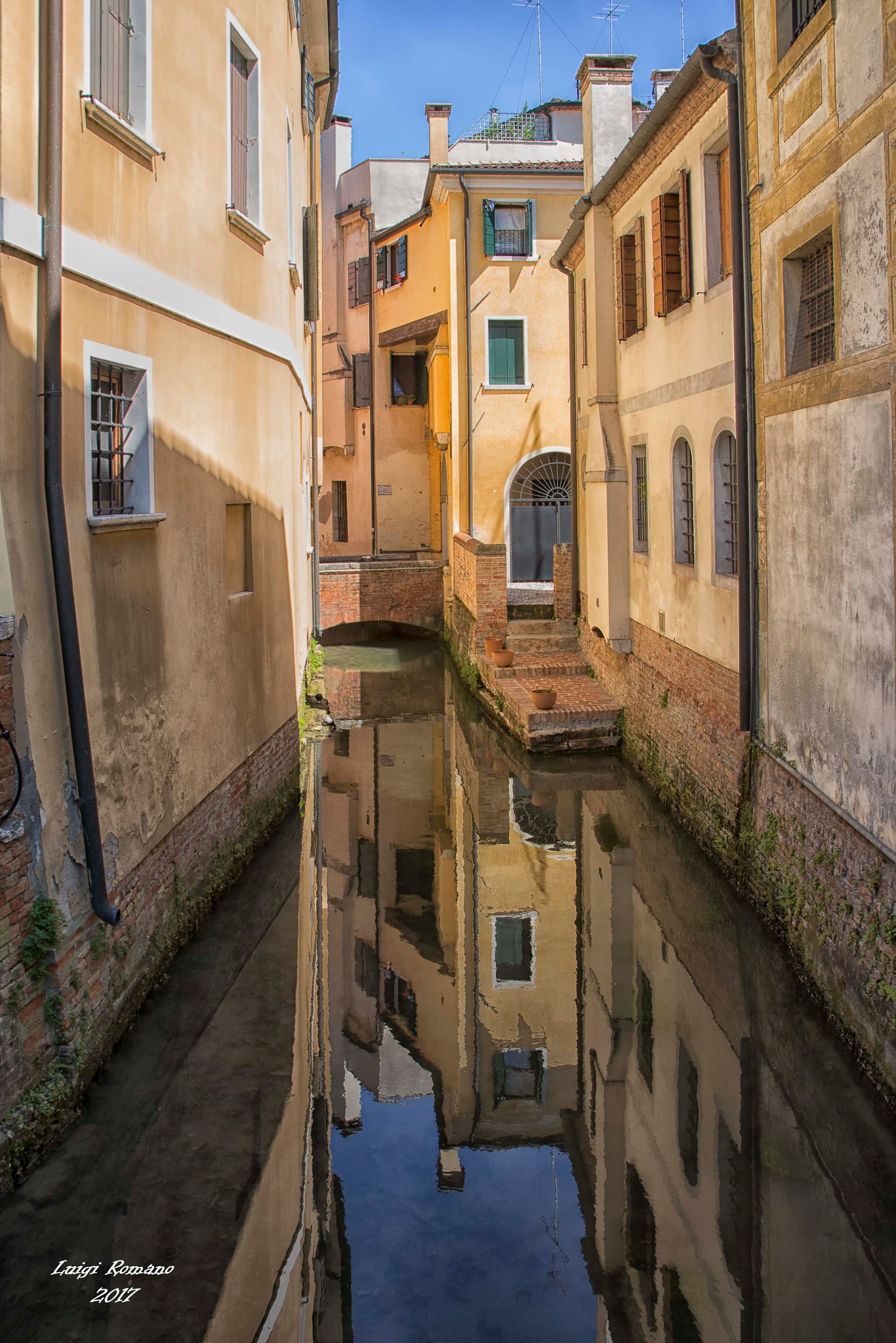 Reflections on the canal in Treviso by Luigi Romano