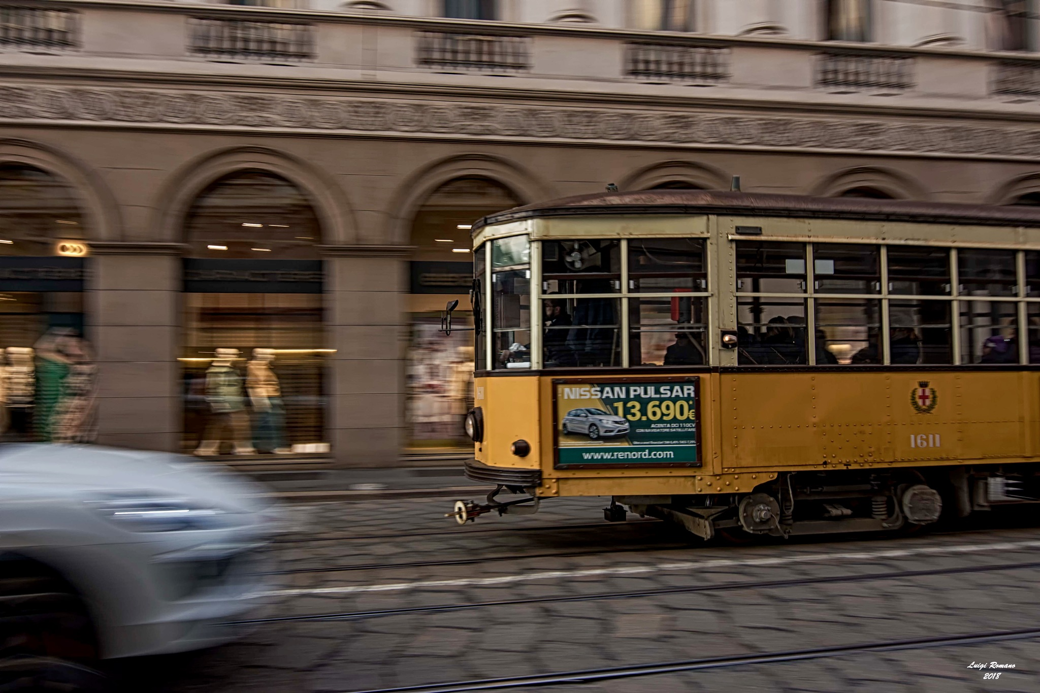 The old tram at full speed by Luigi Romano