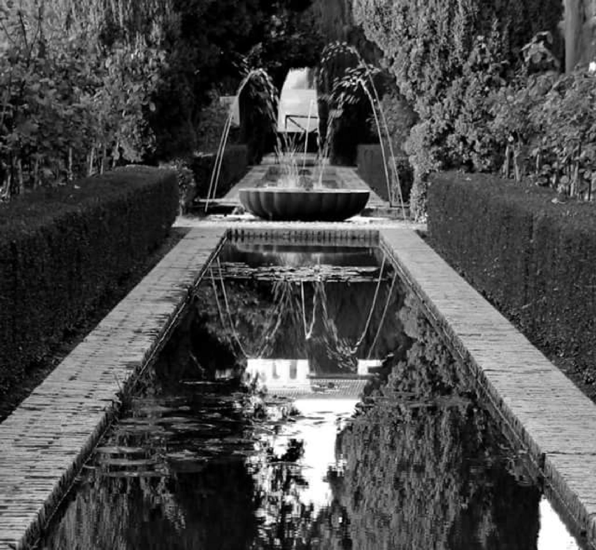 Garden in the Alhambra, Granada by thierrylorenzo