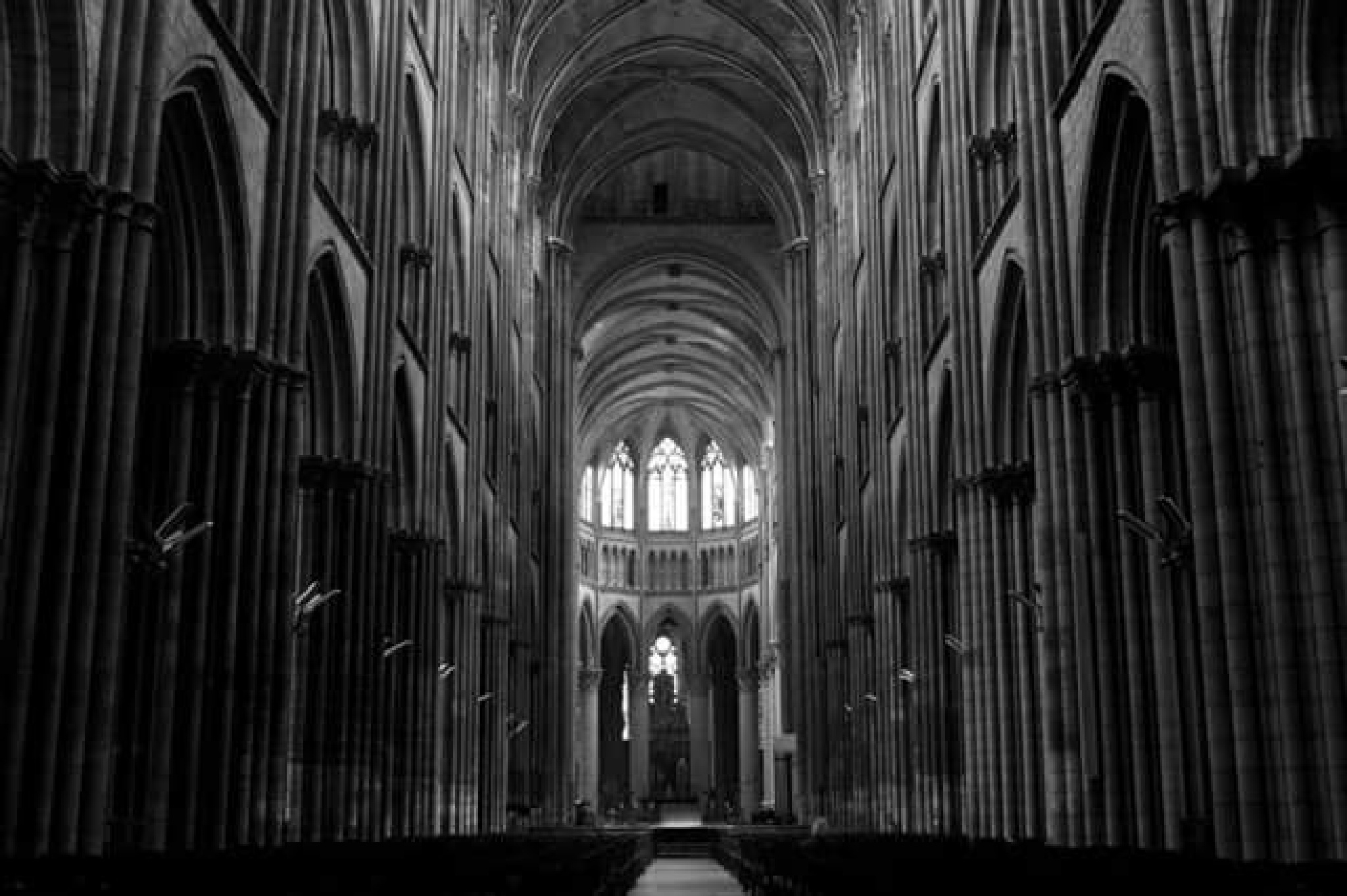 inside the Rouen cathedral by thierrylorenzo