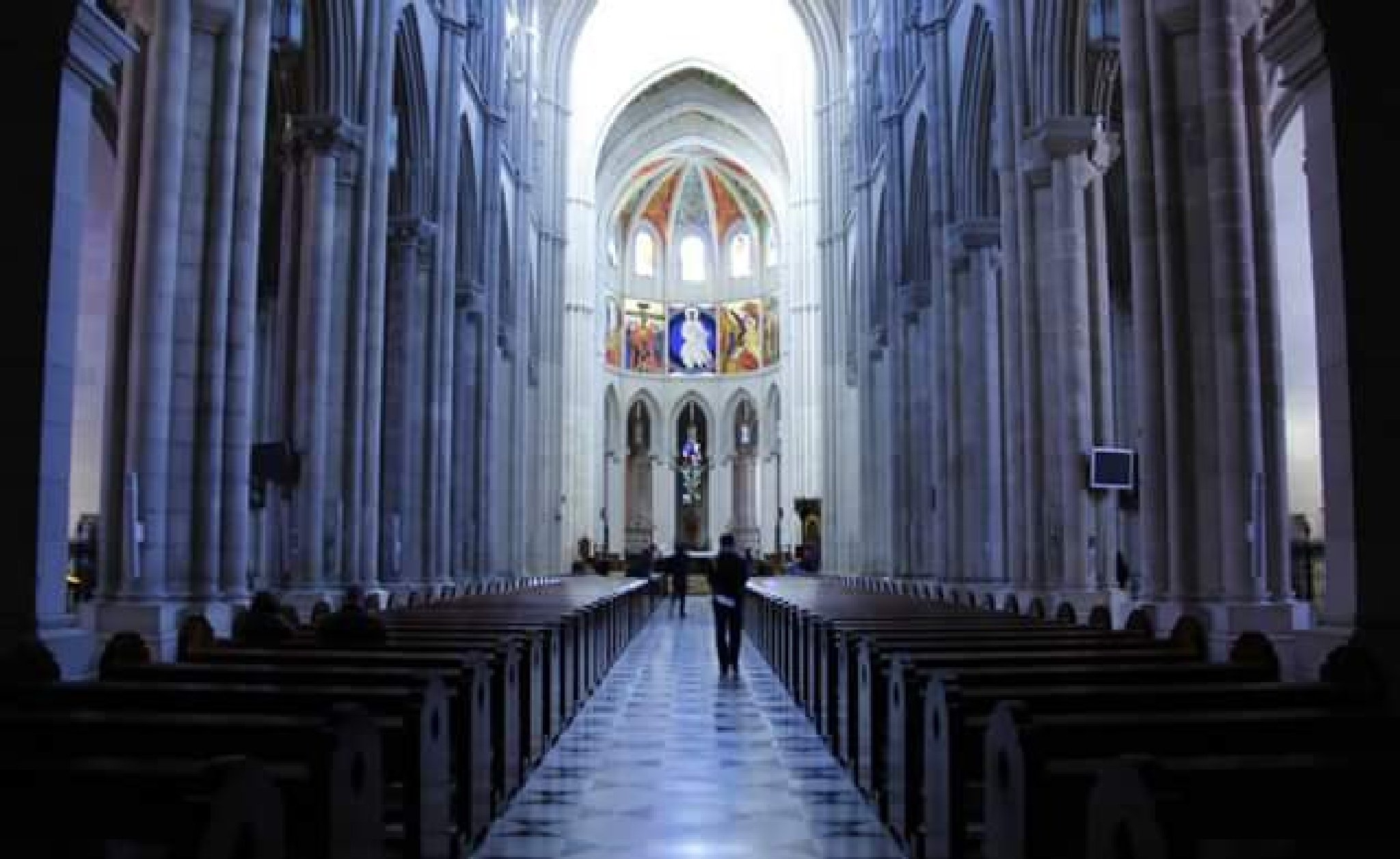 inside the Almudena Cathedral, Madrid by thierrylorenzo