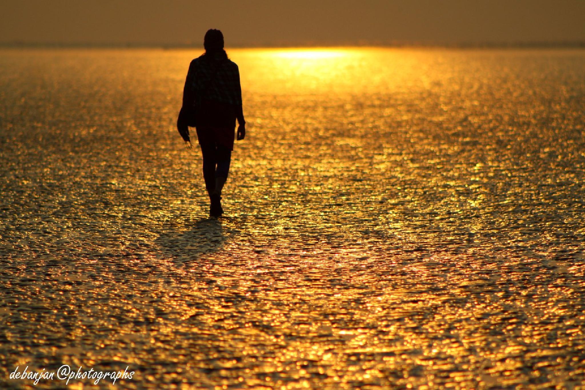 golden beach by Debanjan Mondal