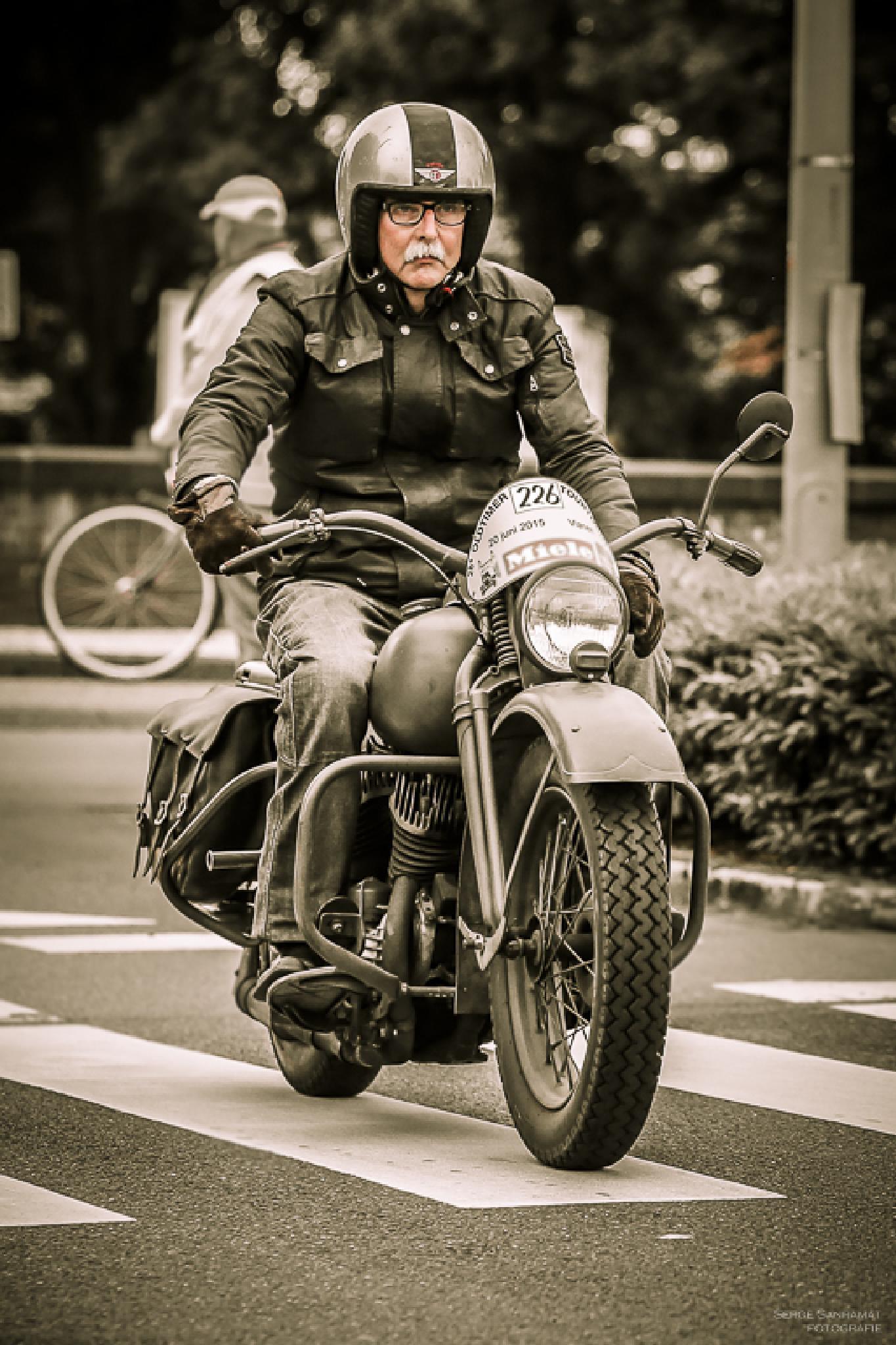 Racing Biker Senior by Serge