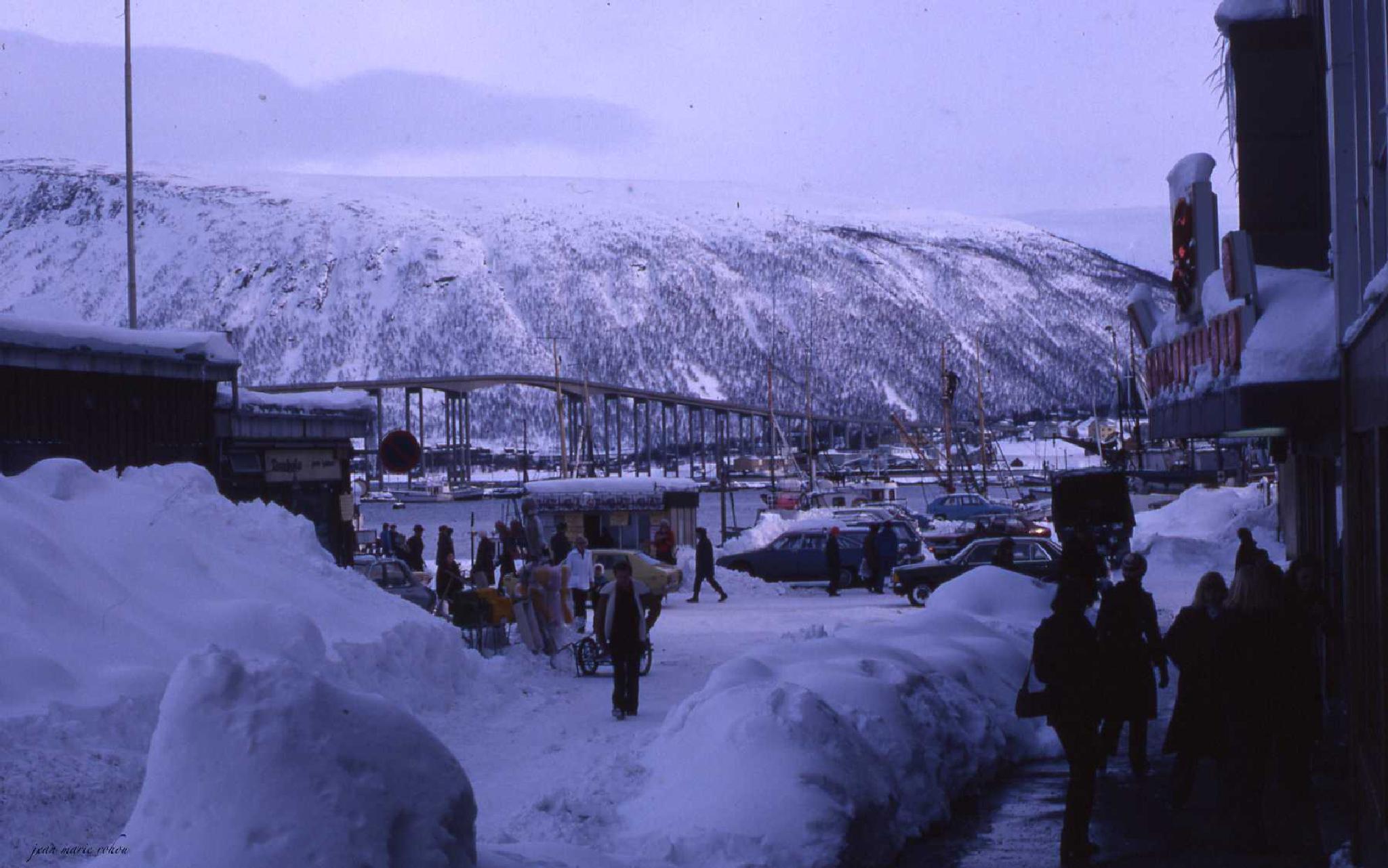 Tromso in winter by jean marie rohou