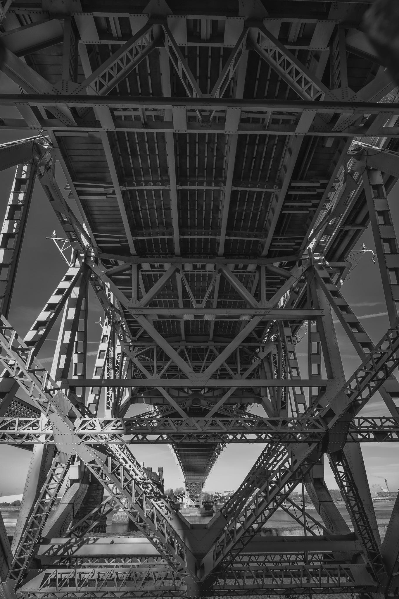Under Runcorn Bridge by Martin Beecroft